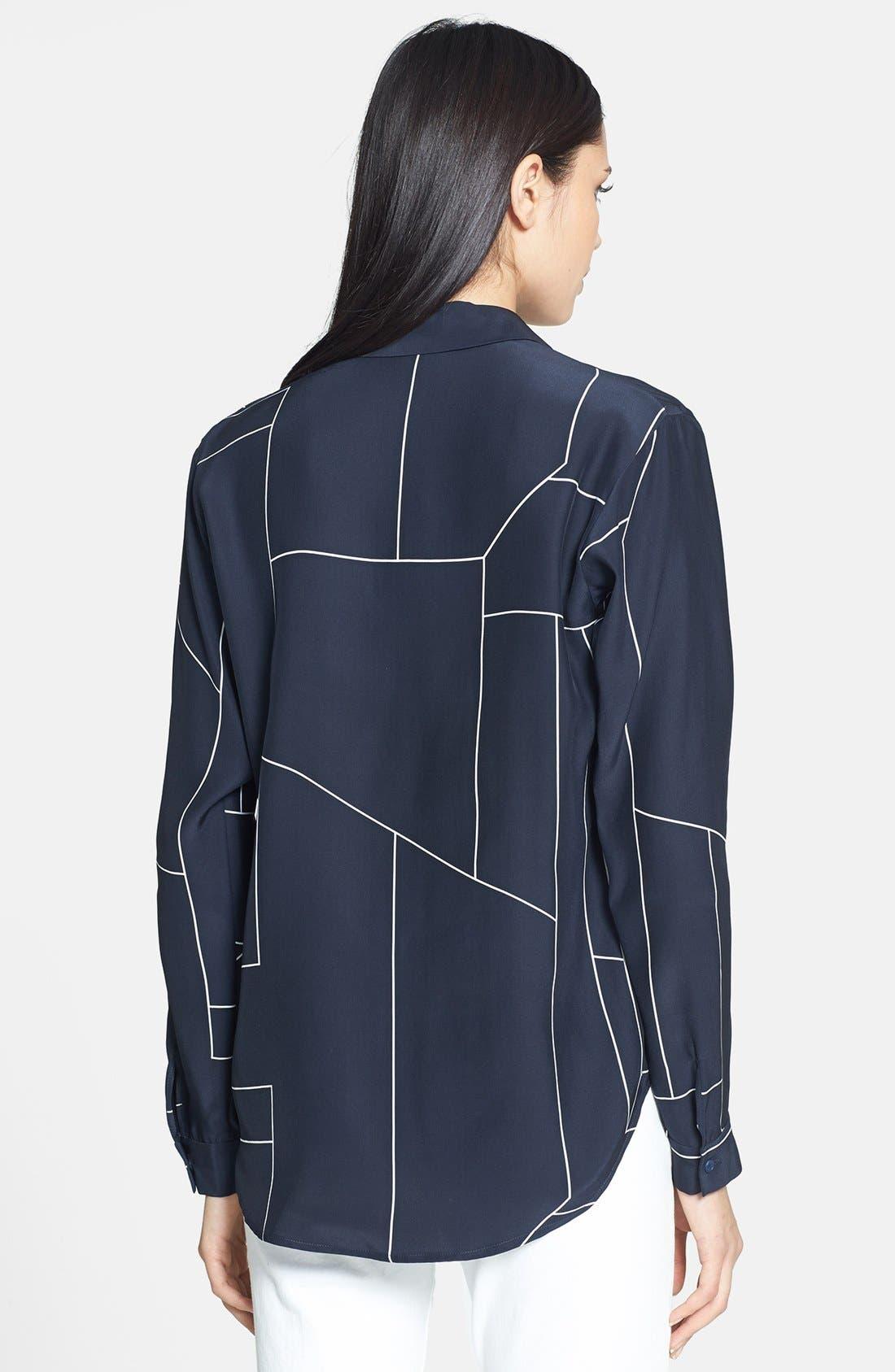 Alternate Image 2  - Theory 'Aquilina B.' Geometric Print Silk Top