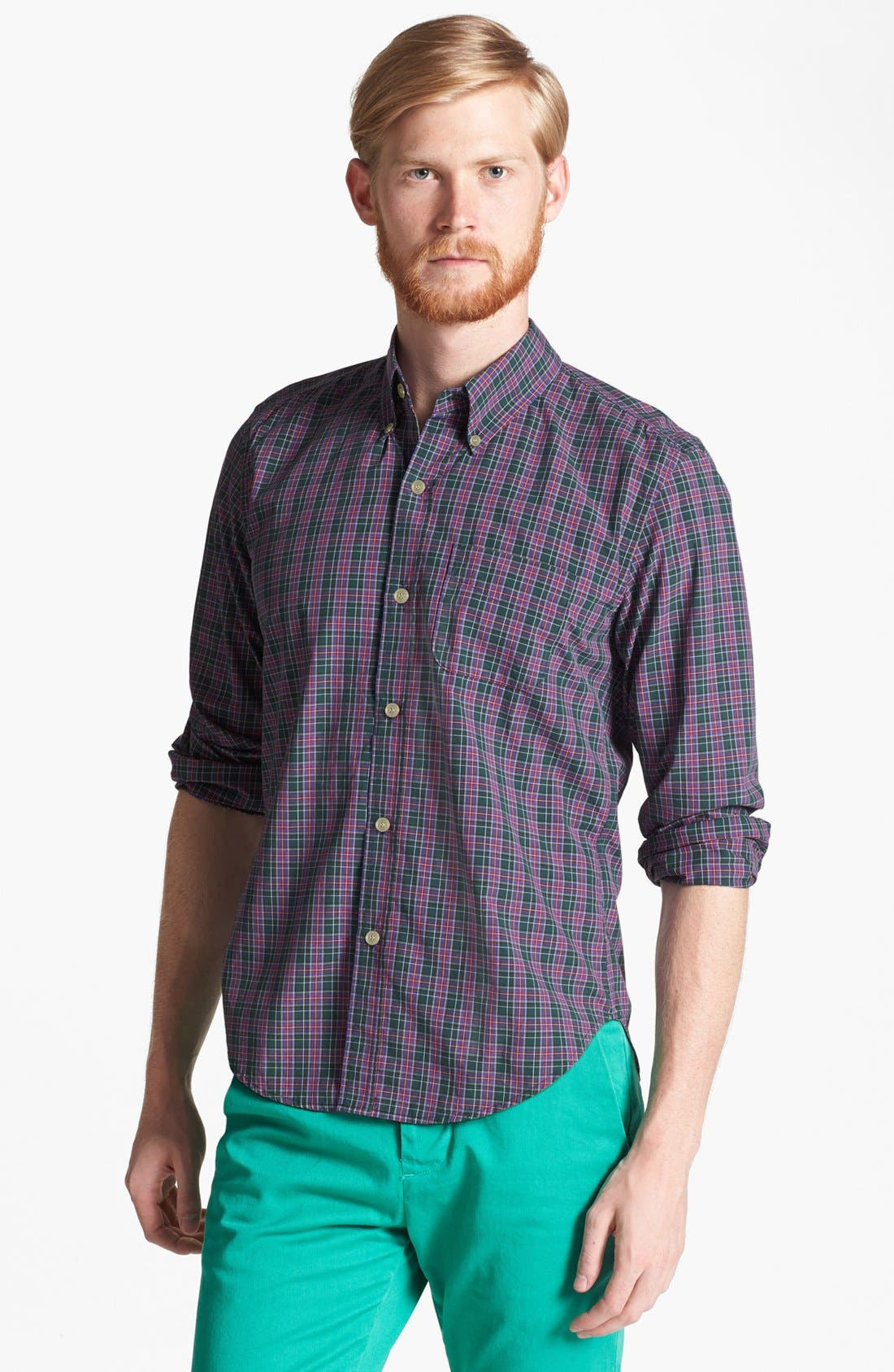 Alternate Image 1 Selected - Band of Outsiders 'Ranger' Plaid Cotton Shirt