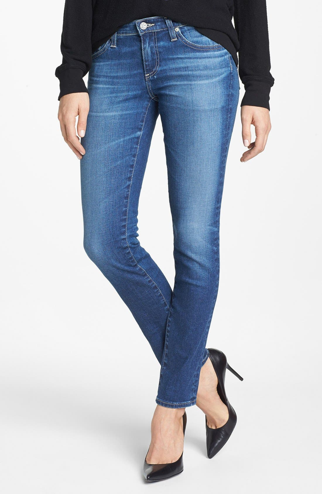 Main Image - AG 'The Stilt' Cigarette Leg Jeans (Eleven Year Journey)