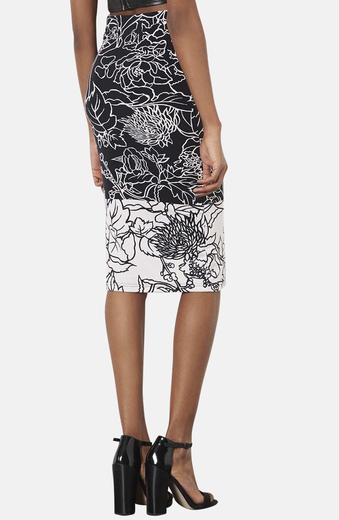 Alternate Image 2  - Topshop 'Pen Garden' Floral Print Tube Skirt