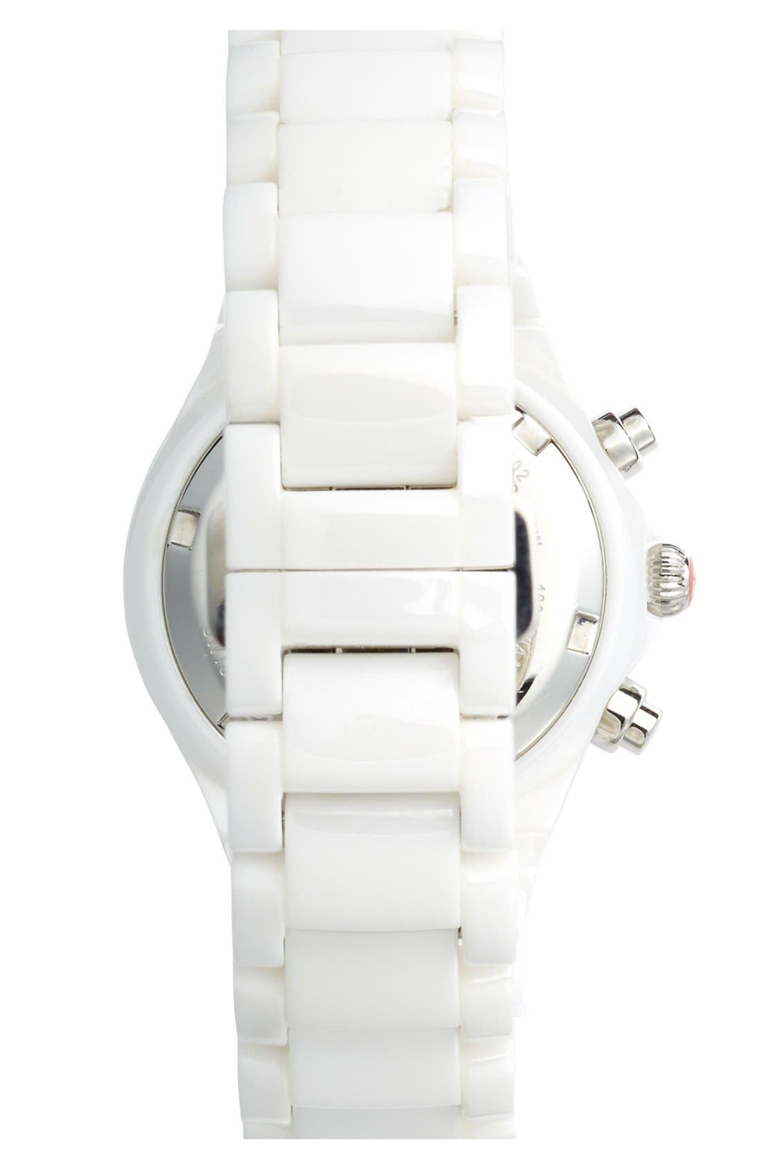 Alternate Image 2  - MICHELE 'Tahitian' Stainless Steel & Ceramic Watch, 35mm
