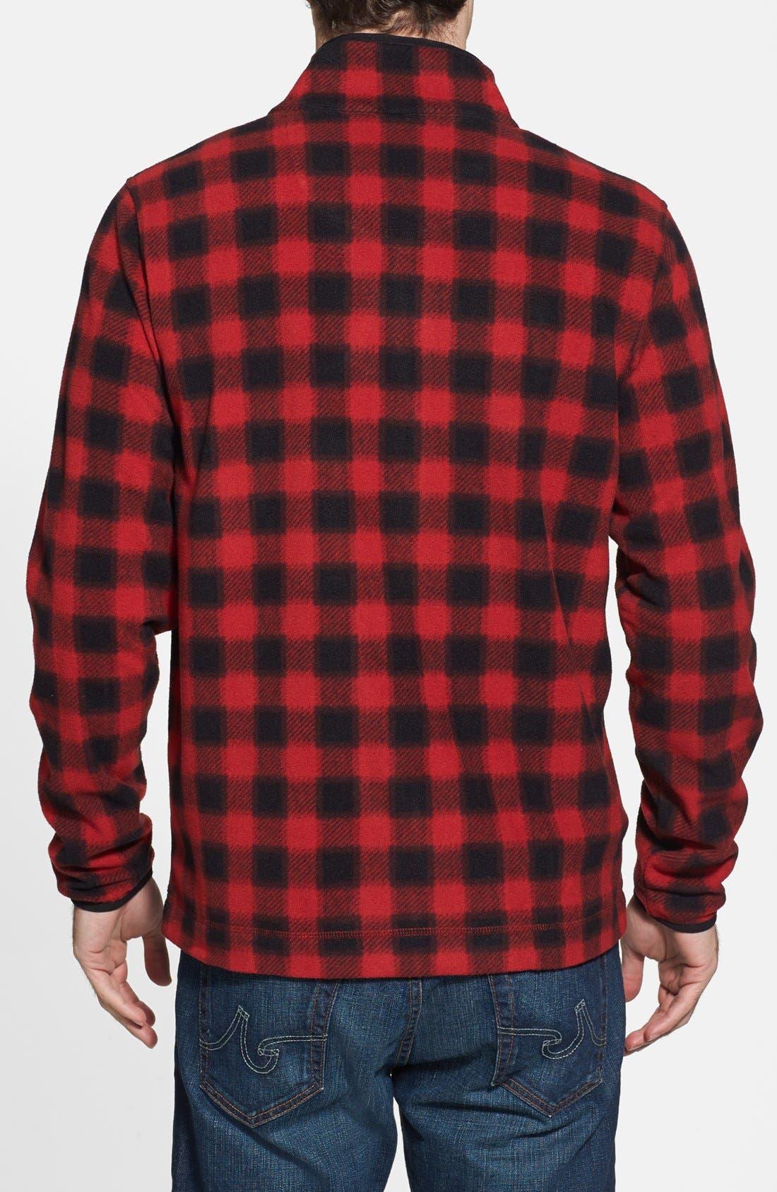 Alternate Image 2  - Wallin & Bros. Trim Fit Plaid Full Zip Fleece