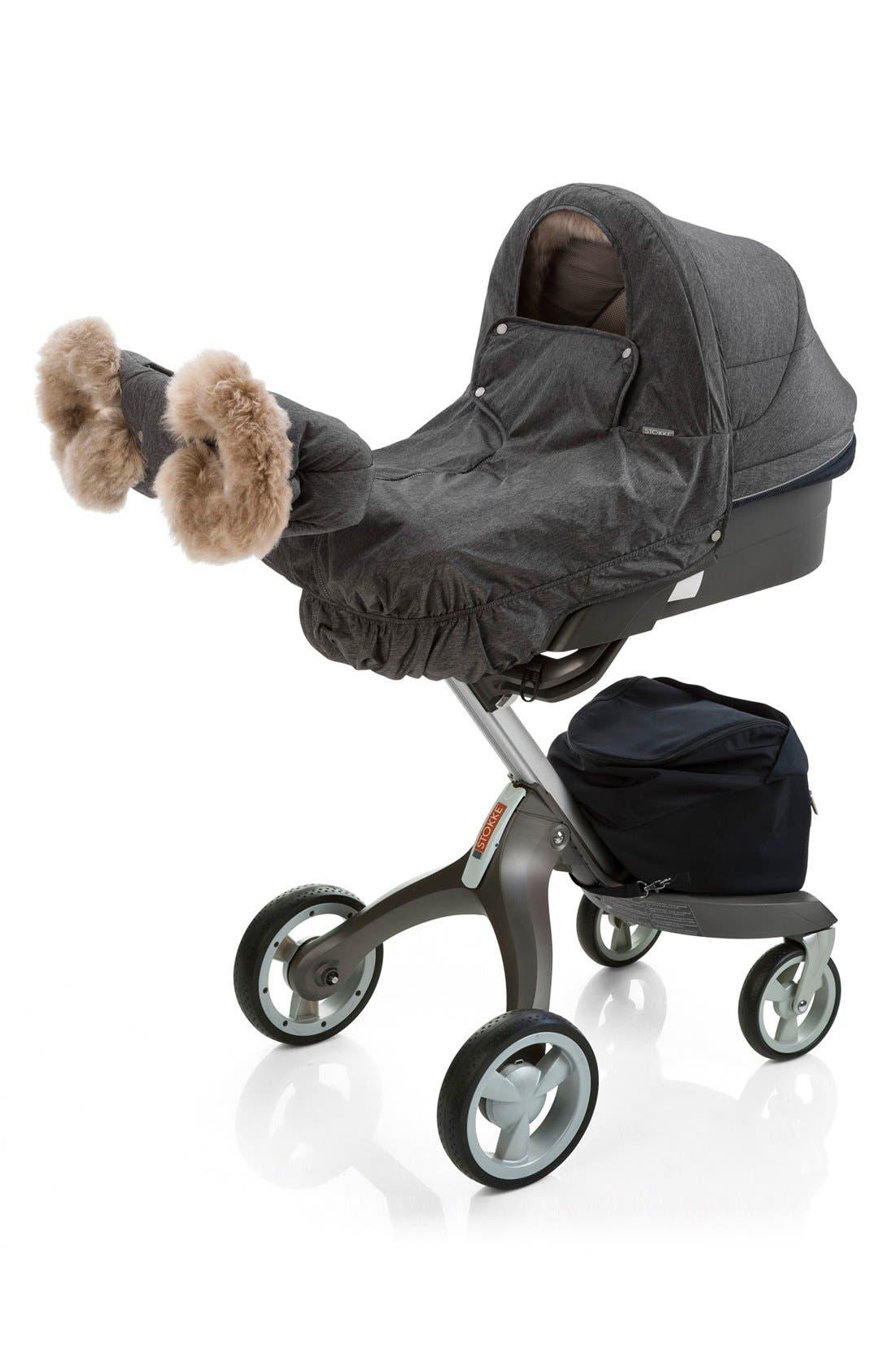 Stroller Winter Kit,                         Main,                         color, Anthracite Melange