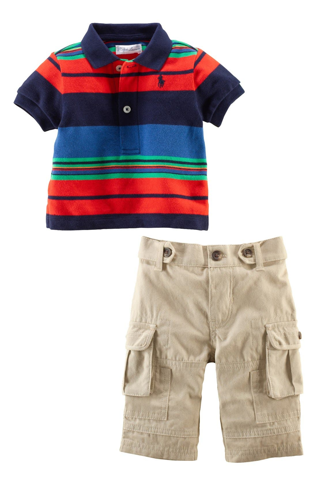 Alternate Image 2  - Ralph Lauren Polo & Cargo Pants (Baby Boys)