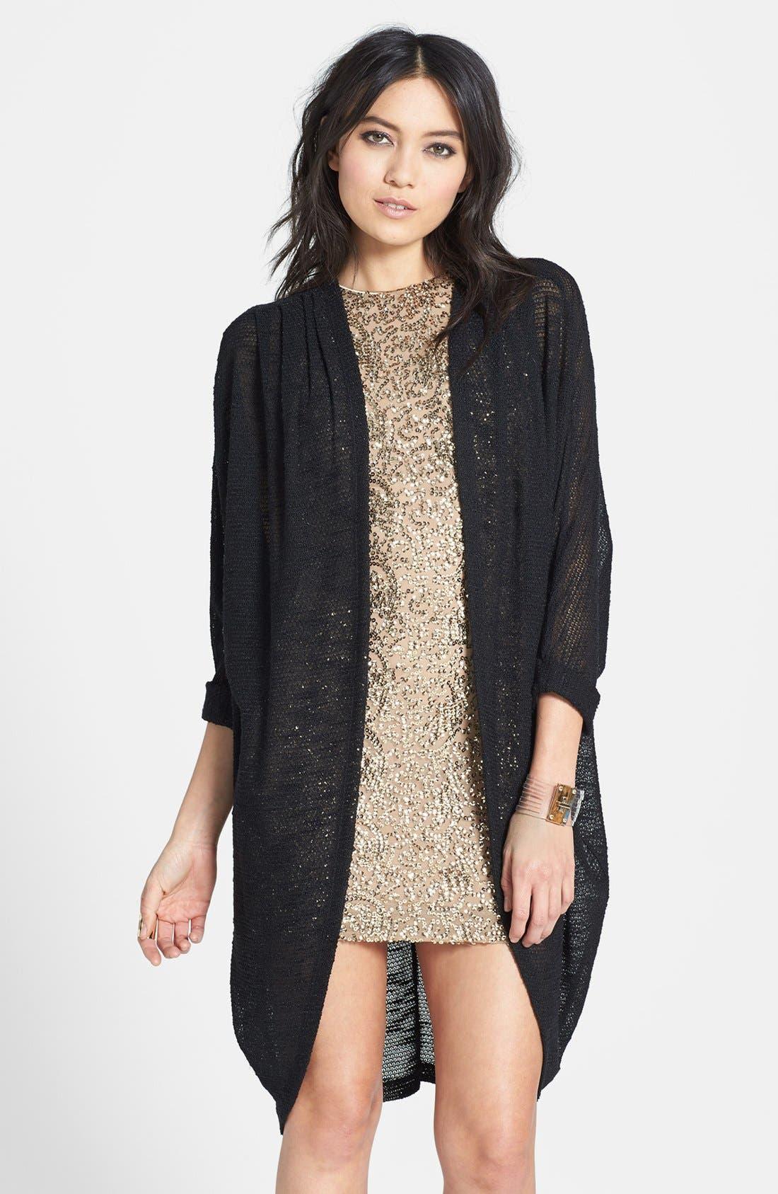 Alternate Image 1 Selected - Madison & Berkeley Long Sheer Knit Cardigan