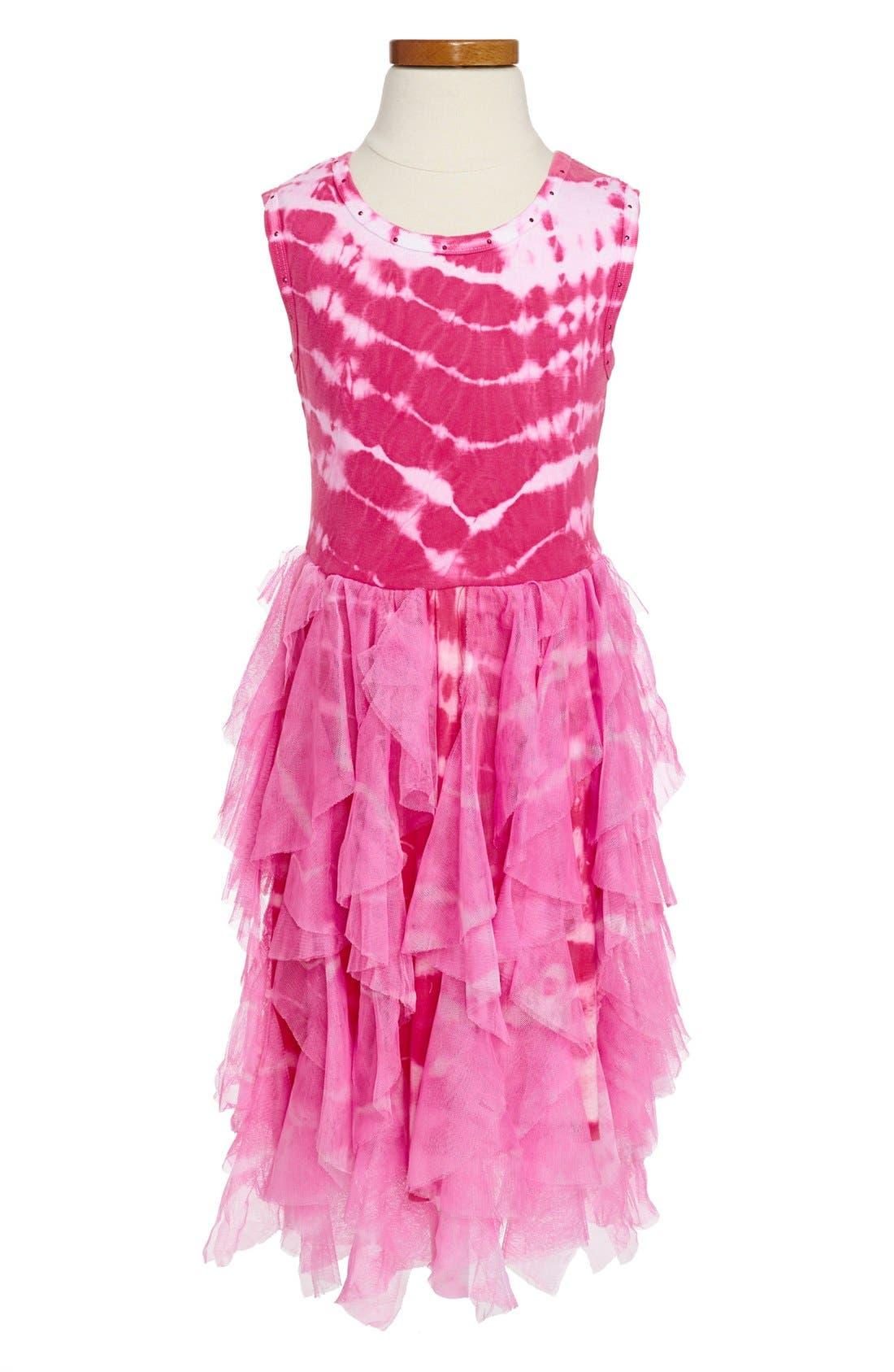 Alternate Image 1 Selected - Mignone Tie Dye Dress (Little Girls & Big Girls)
