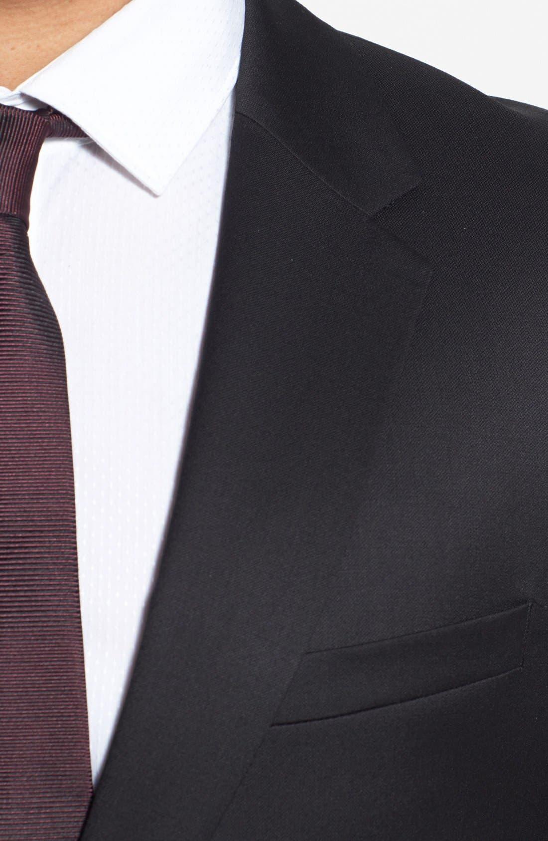 Alternate Image 6  - HUGO 'Aeron/Hamen - Super Black' Extra Trim Fit Wool Suit