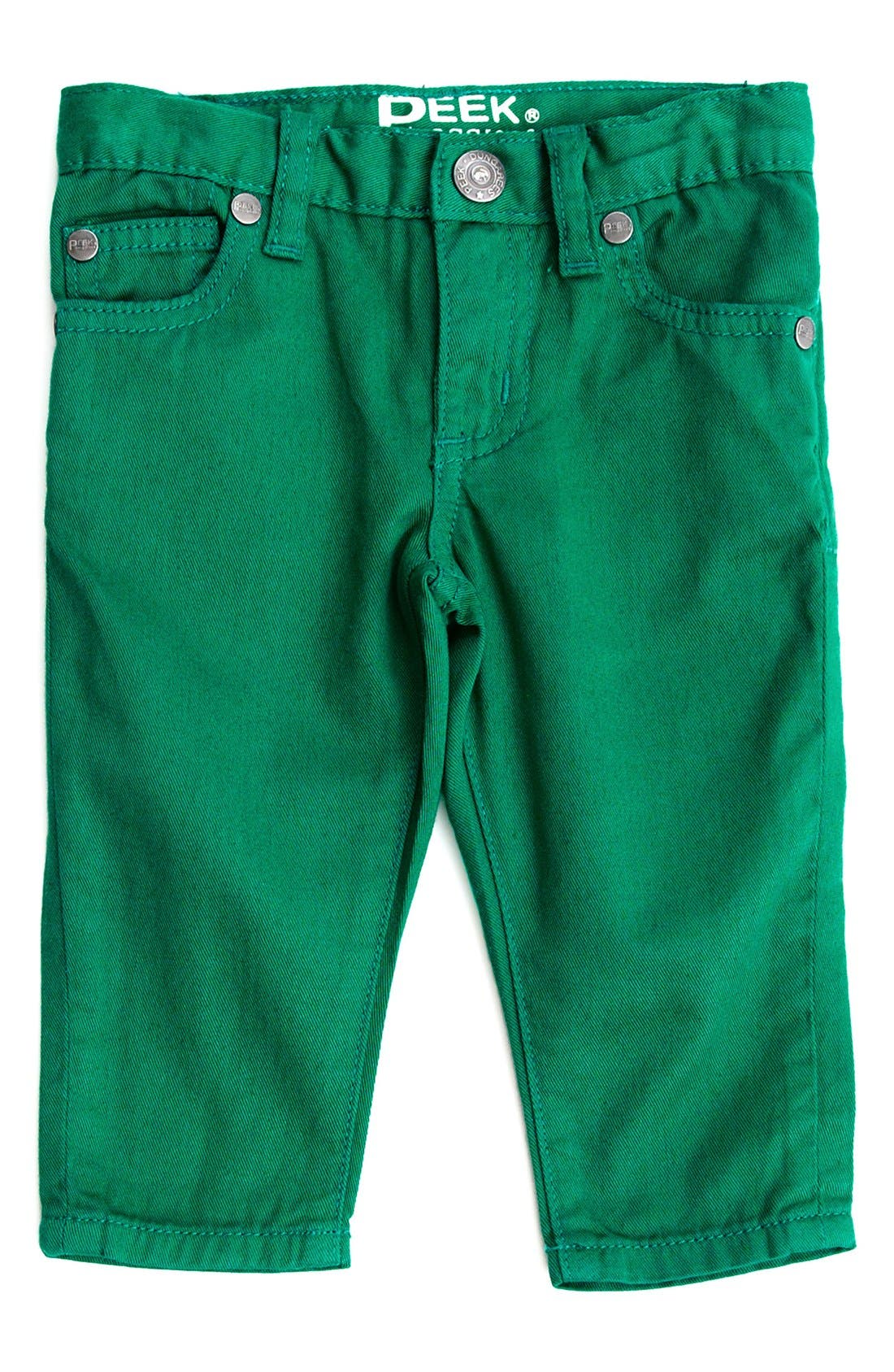 Alternate Image 1 Selected - Peek Slouch Twill Jeans (Baby Boys)