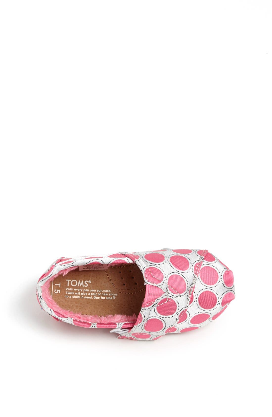 Alternate Image 3  - TOMS 'Classic - Tiny' Polka Dot Slip-On (Baby, Walker & Toddler)