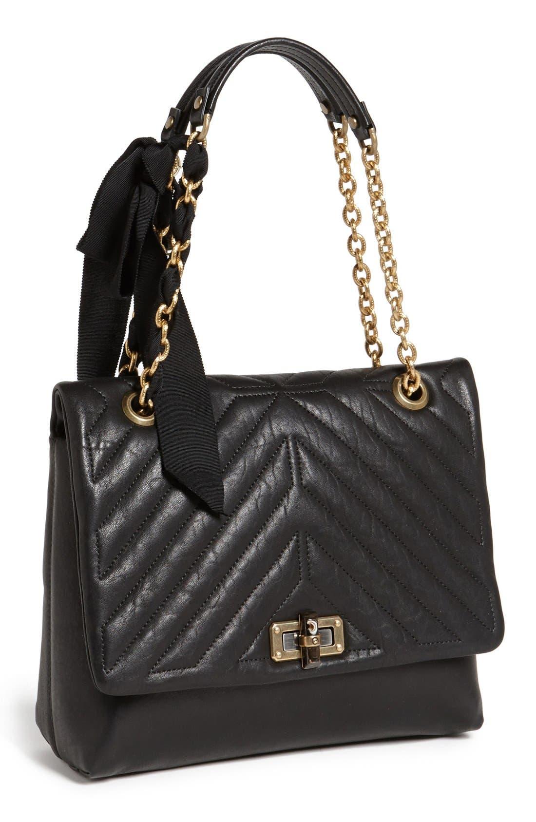 Alternate Image 1 Selected - Lanvin 'Happy' Quilted Flap Shoulder Bag