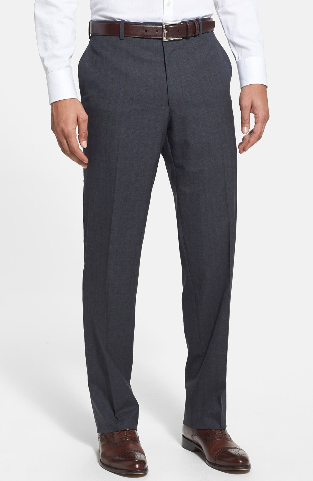 Alternate Image 4  - Peter Millar Classic Fit Stripe Suit
