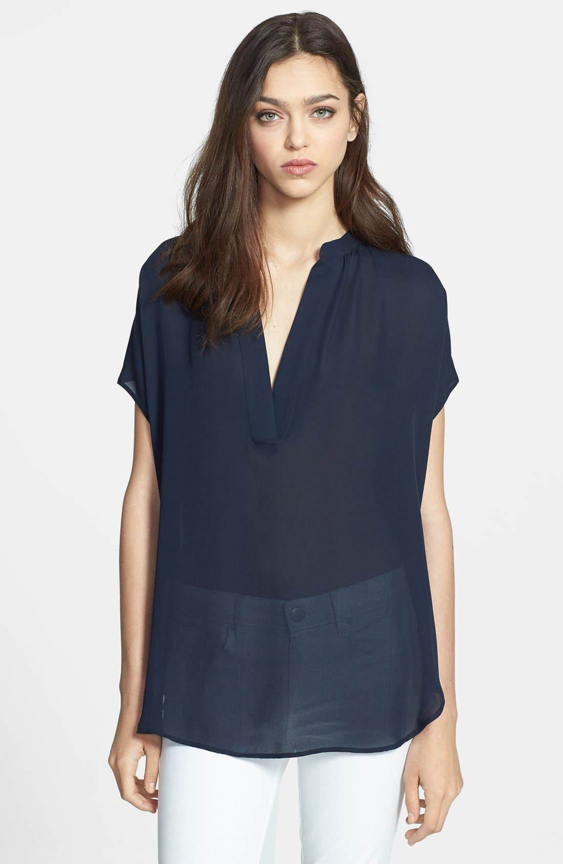 Alternate Image 1 Selected - Vince 'Popover' Cap Sleeve Top