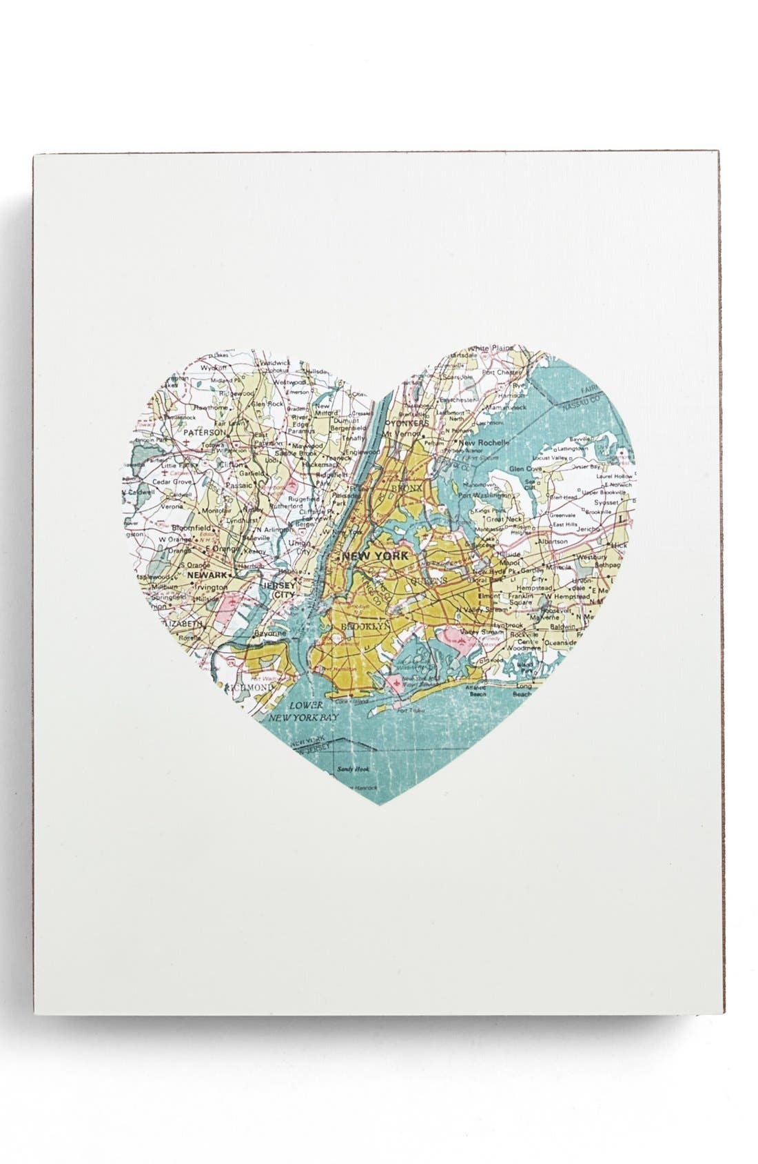 Main Image - Lucius Designs 'New York City Map Heart' Wall Art