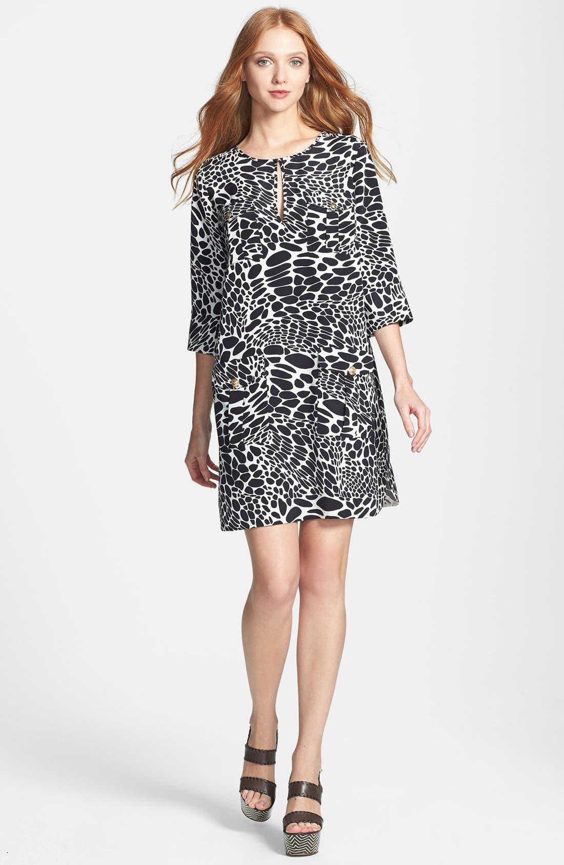 Alternate Image 1 Selected - Diane von Furstenberg 'Agness' Print Woven Shift Dress