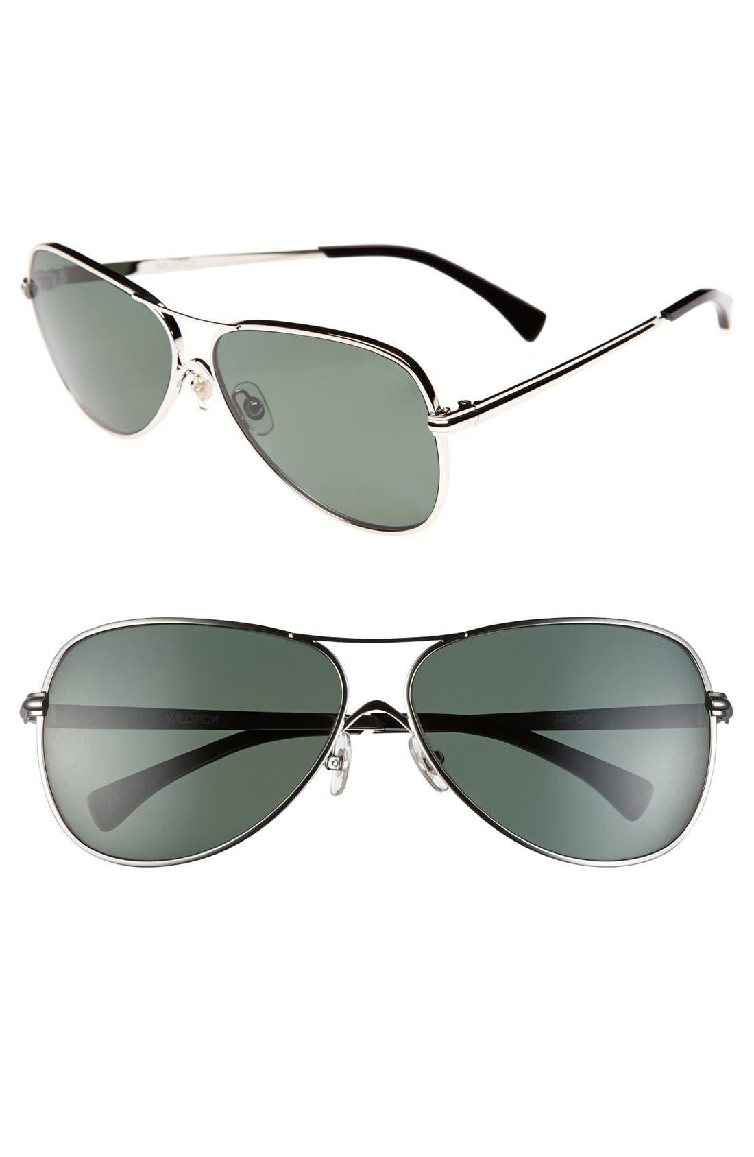 Main Image - Wildfox 'Airfox' 57mm Polarized Sunglasses