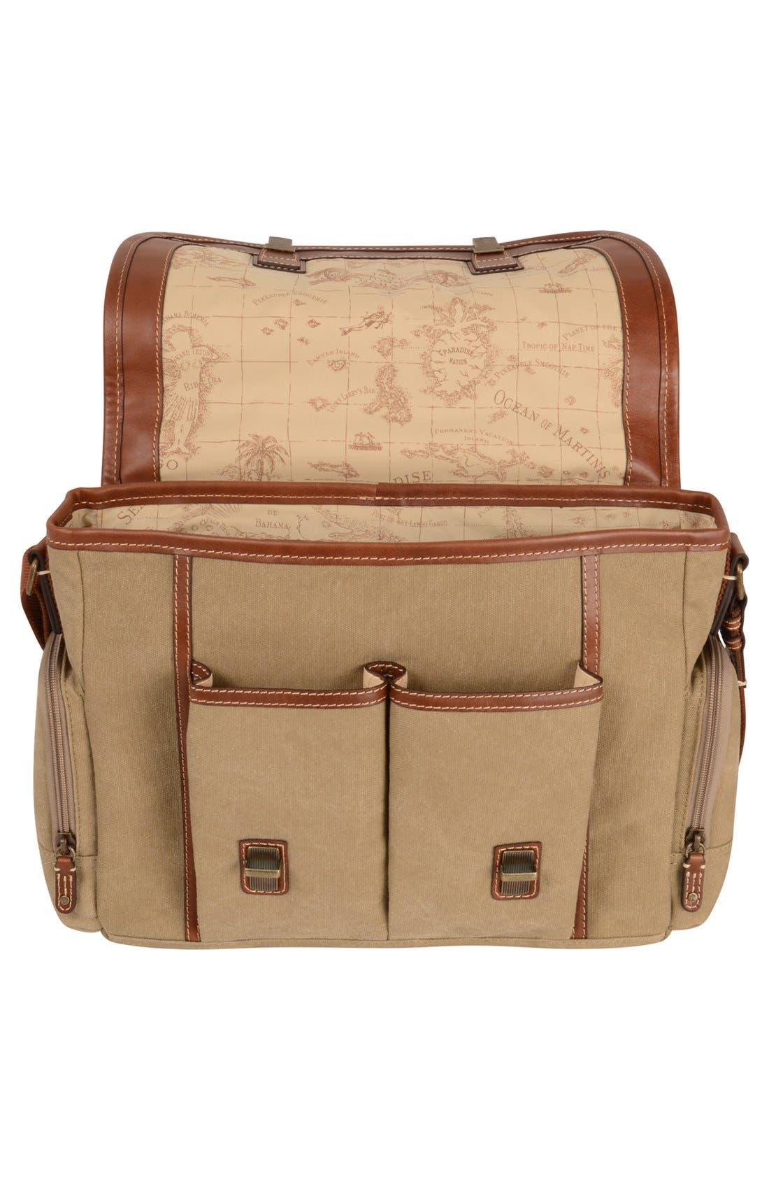 Alternate Image 4  - Tommy Bahama Canvas & Leather Messenger Bag