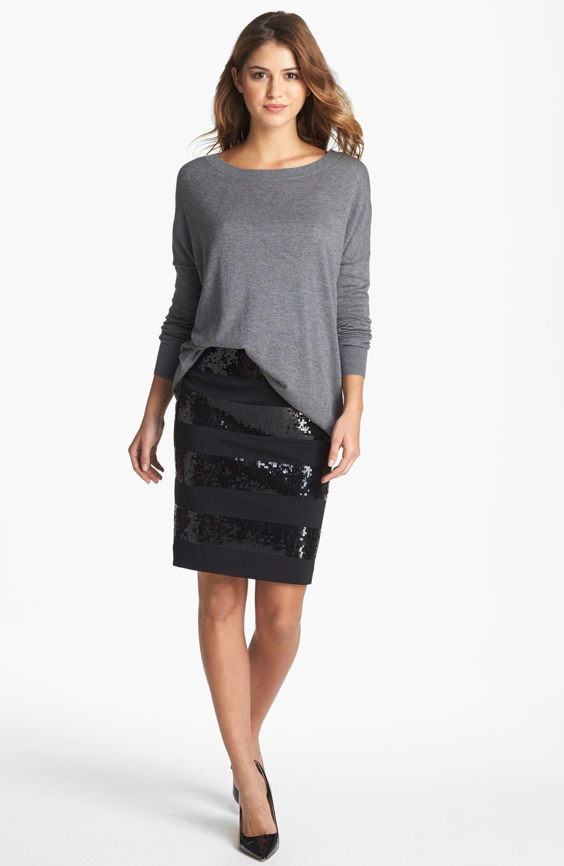 Alternate Image 4  - Halogen® High/Low Tunic Sweater (Petite)