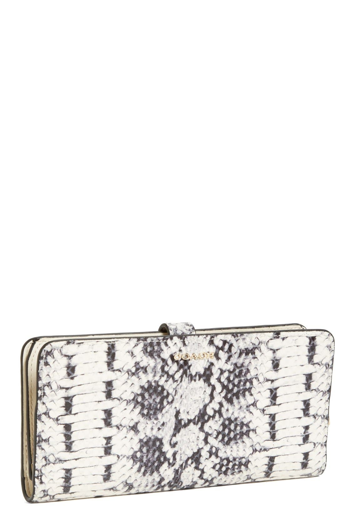 Main Image - COACH 'Madison' Python Embossed Leather Wallet