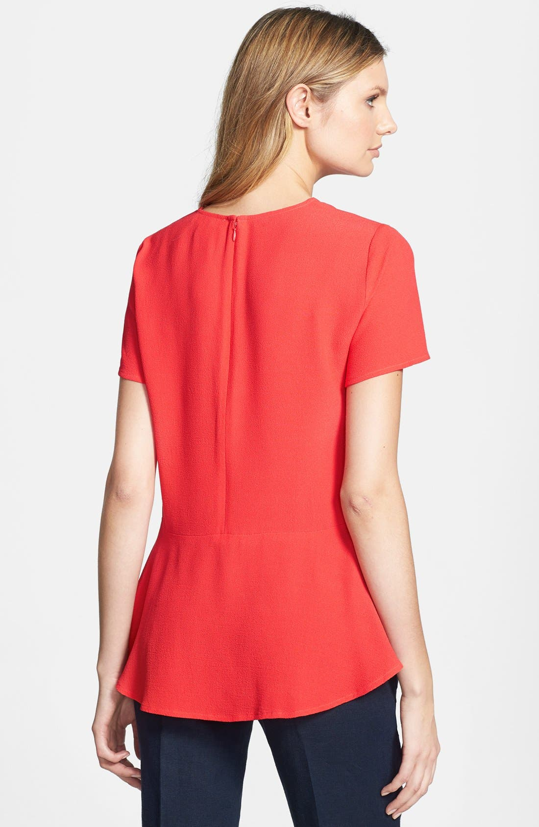 Alternate Image 2  - MICHAEL Michael Kors Crewneck Peplum Back Top