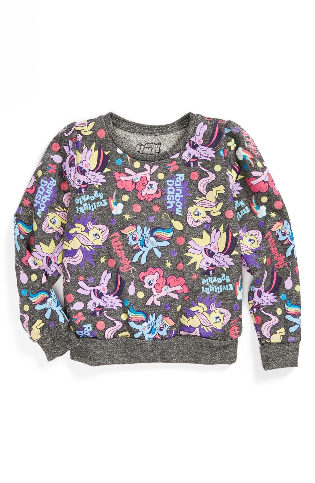 Main Image - Mighty Fine 'My Little Pony®' Sweatshirt (Little Girls & Big Girls)
