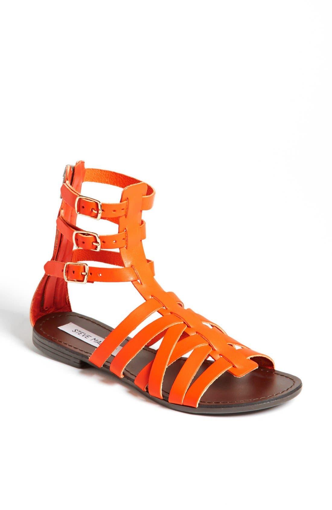 'Plato' Sandal,                             Main thumbnail 1, color,                             Orange