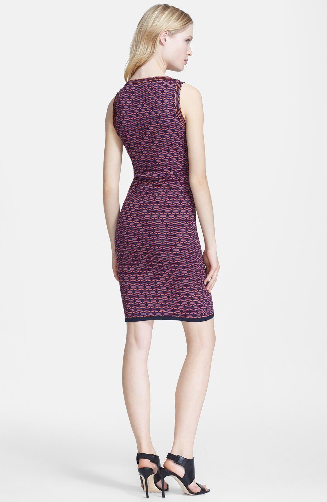 Alternate Image 2  - M Missoni Honeycomb Stripe V-Neck Dress