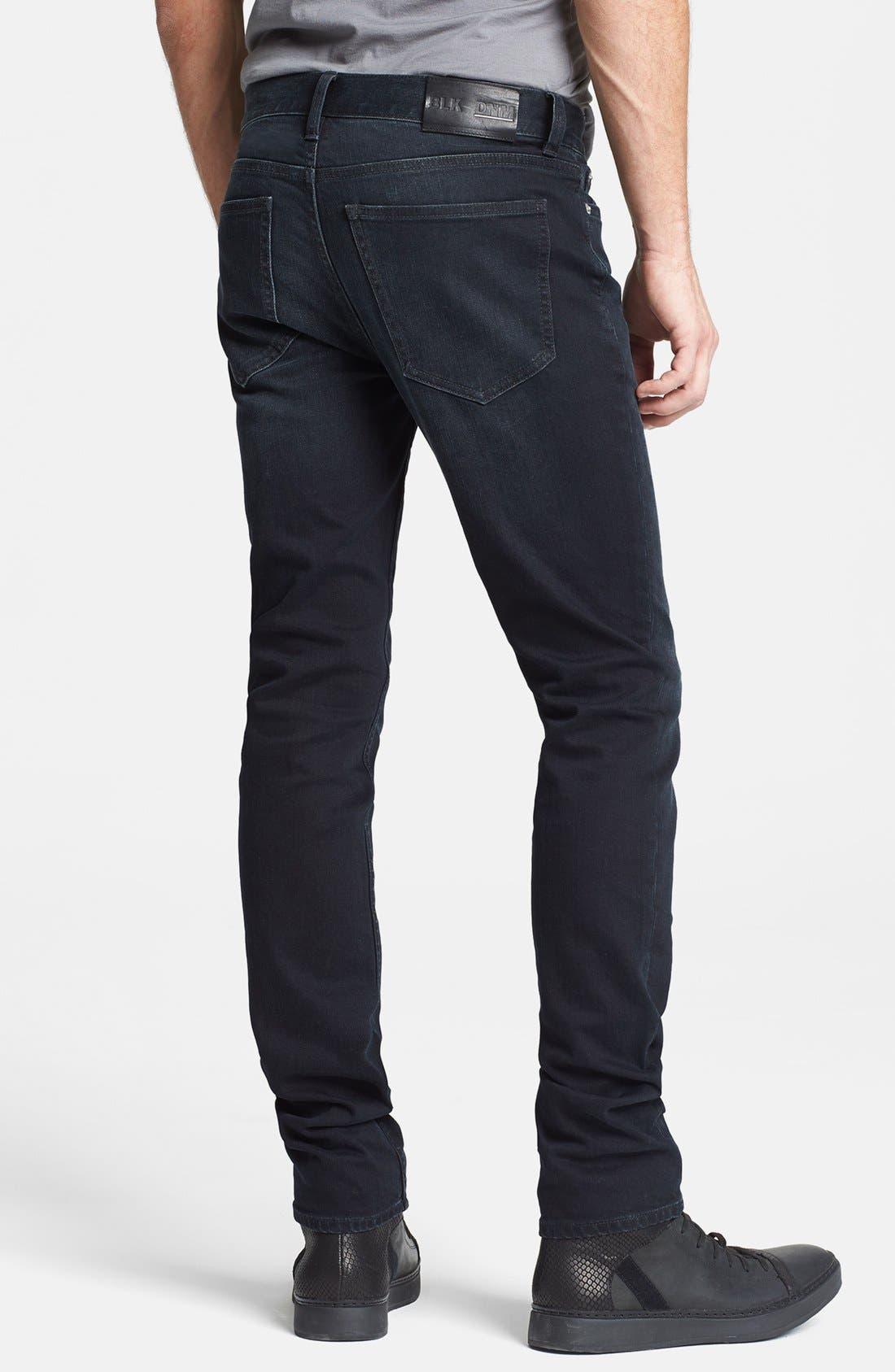 Alternate Image 2  - BLK DNM 'Jeans 5' Slim Straight Leg Jeans (Beekman Black)