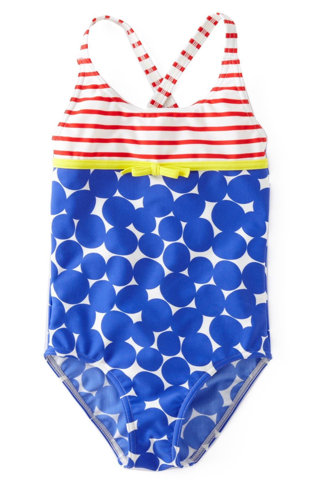 Alternate Image 1 Selected - Mini Boden 'Hopscotch' One-Piece Swimsuit (Little Girls & Big Girls)