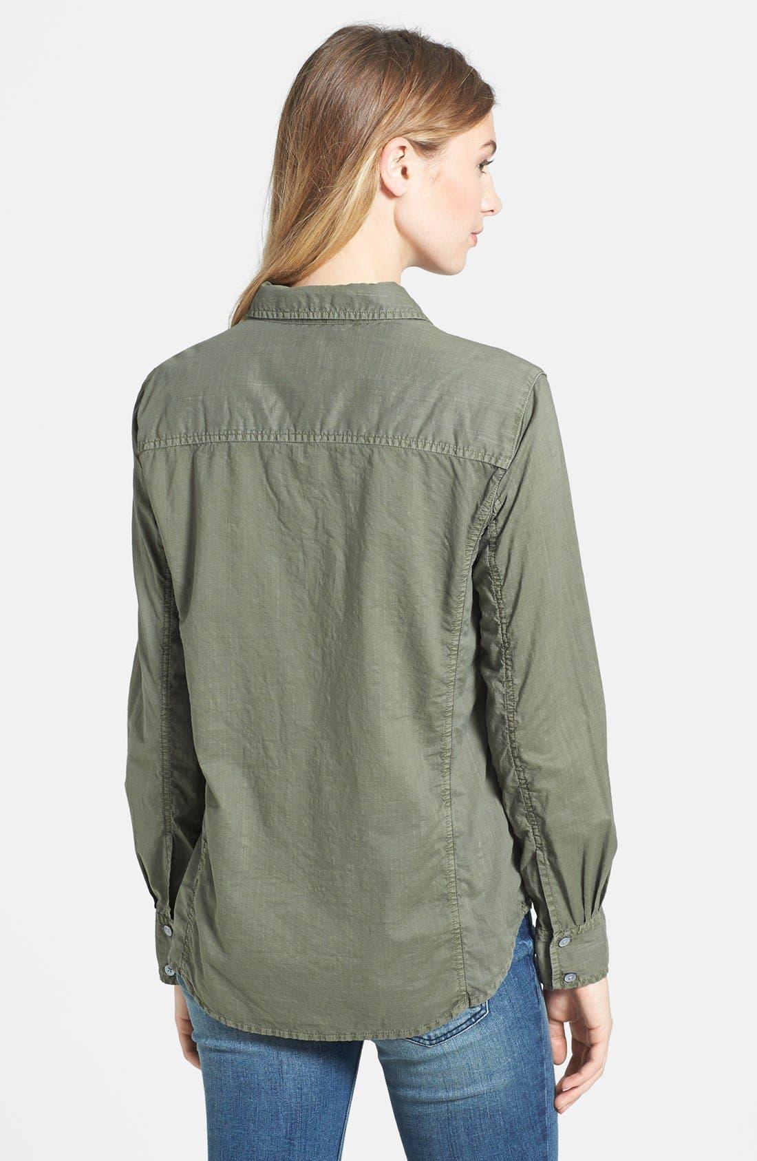 Alternate Image 2  - Caslon® Cotton Blend Blouse