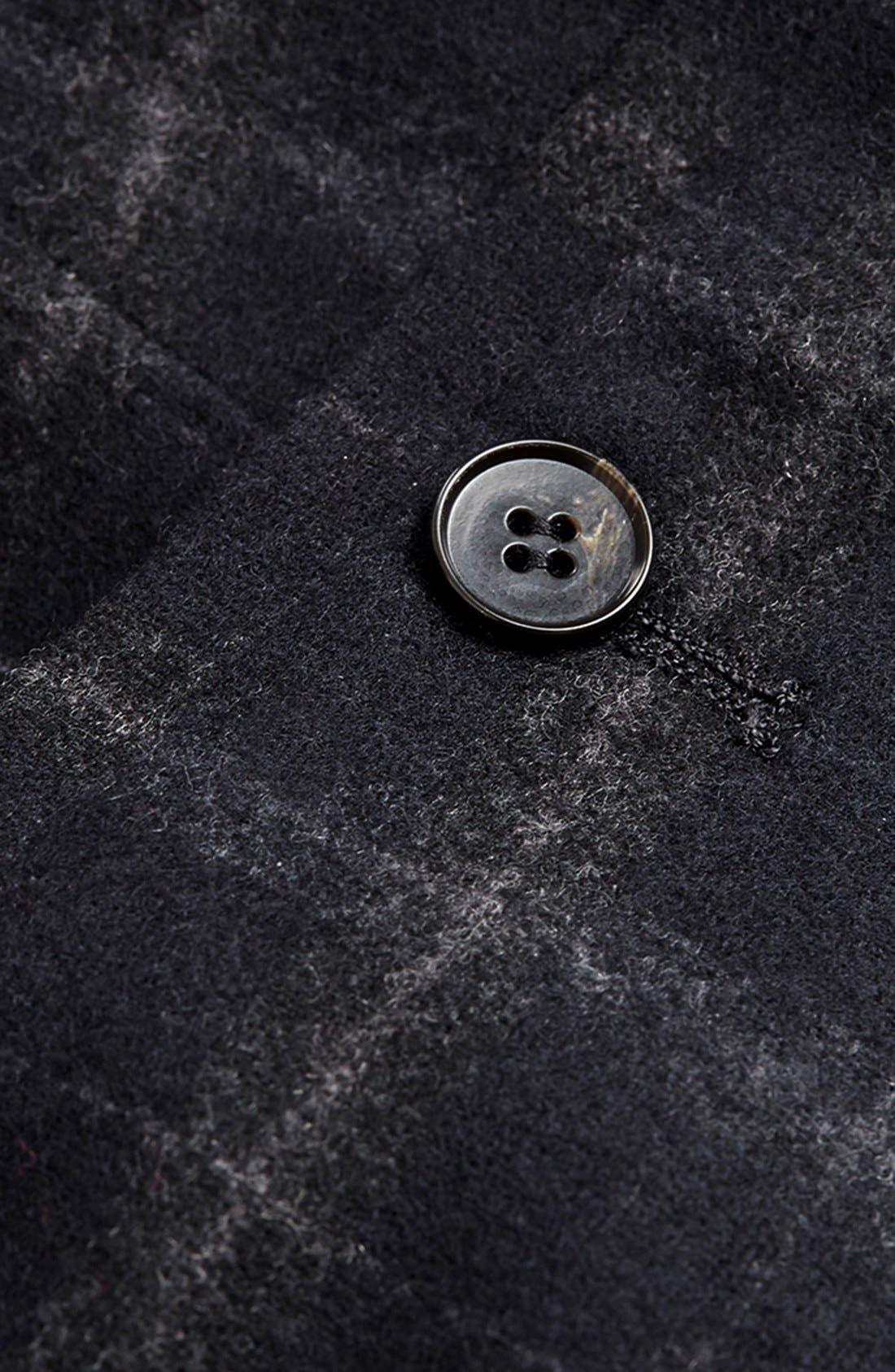 Alternate Image 3  - Topman Skinny Fit Check Wool Blend Trousers