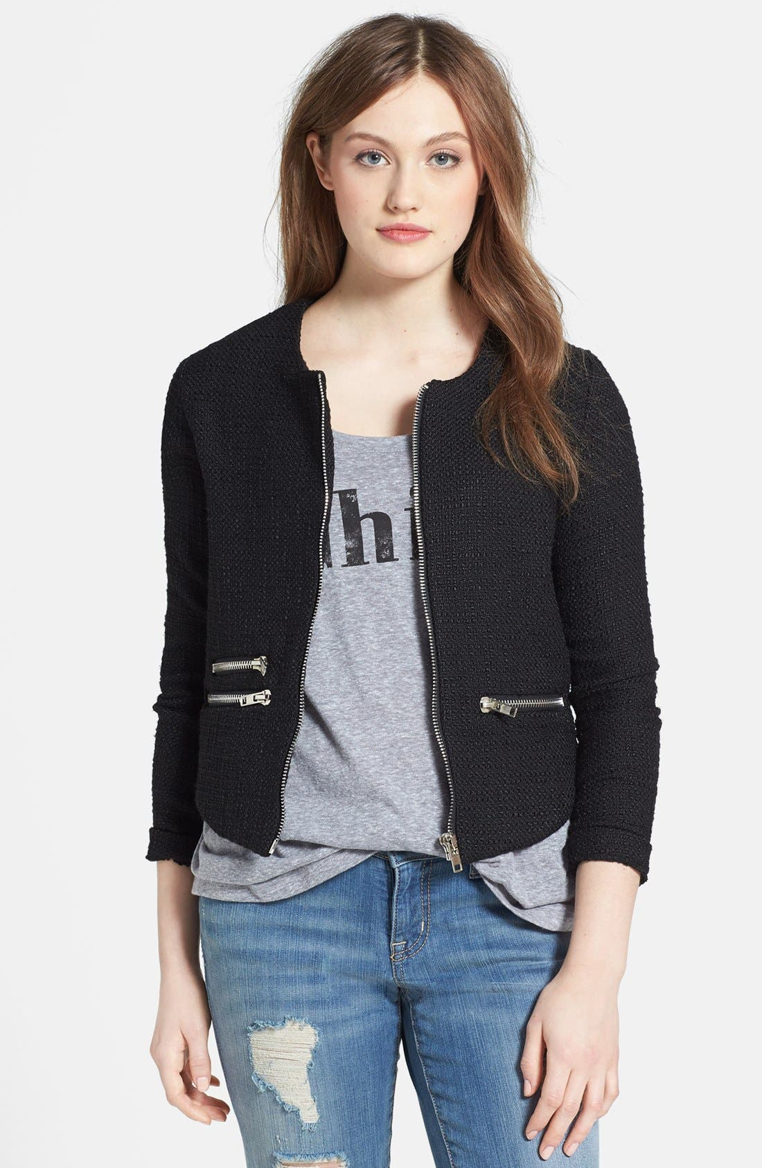 Alternate Image 1 Selected - Costa Blanca Tweed Bomber Jacket