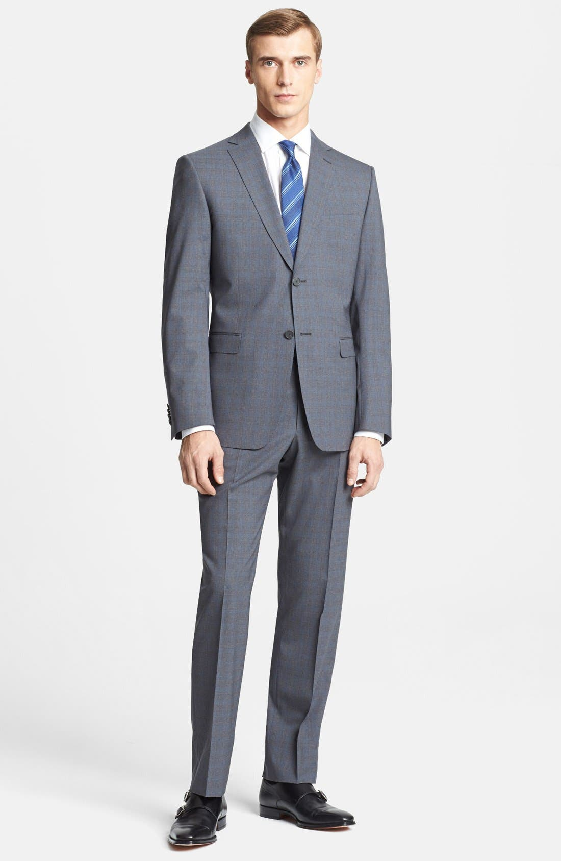 Alternate Image 1 Selected - Z Zegna Trim Fit Grey Wool Suit