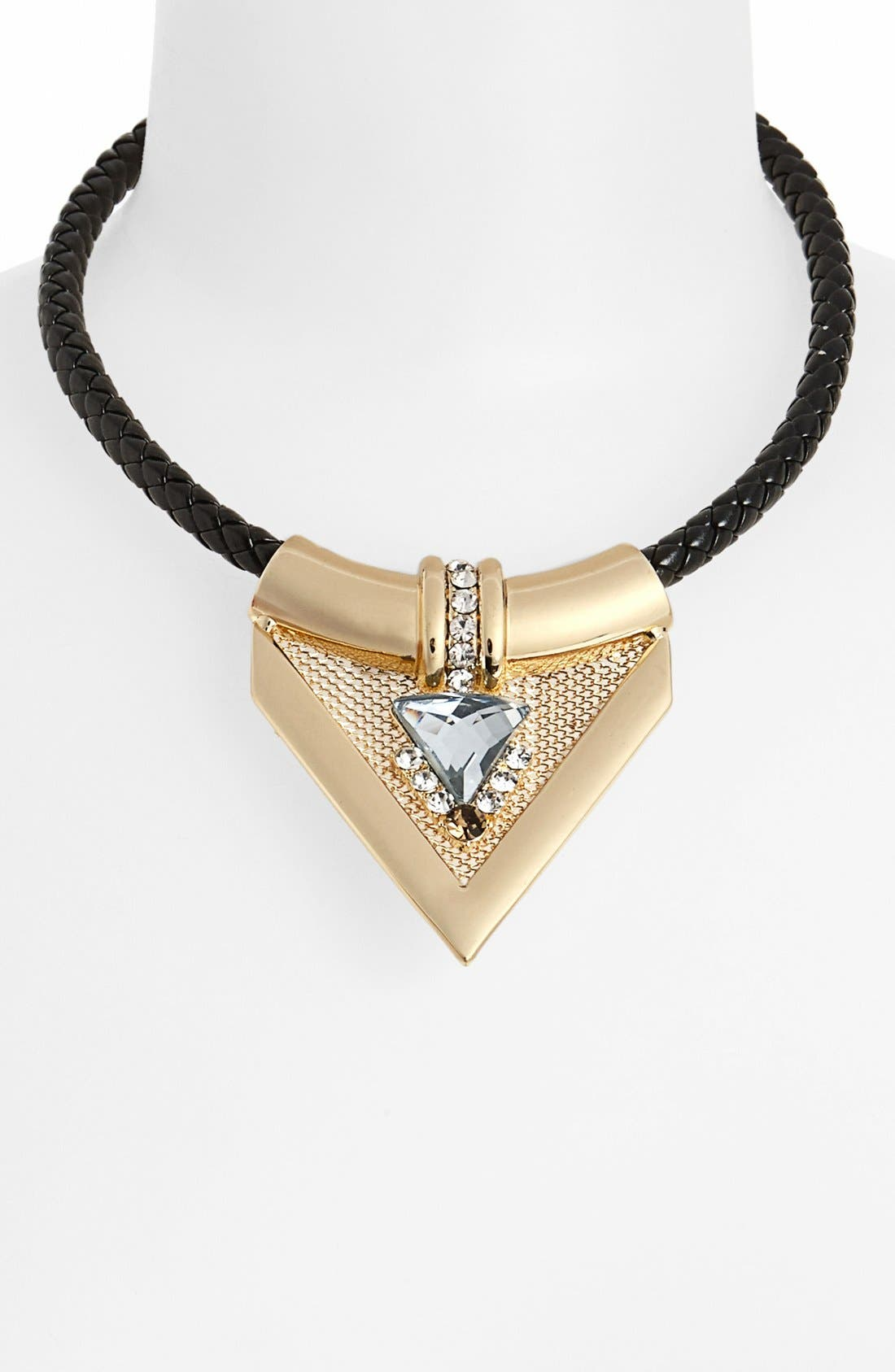 Main Image - Topshop 'Luxe' Triangular Pendant Collar Necklace
