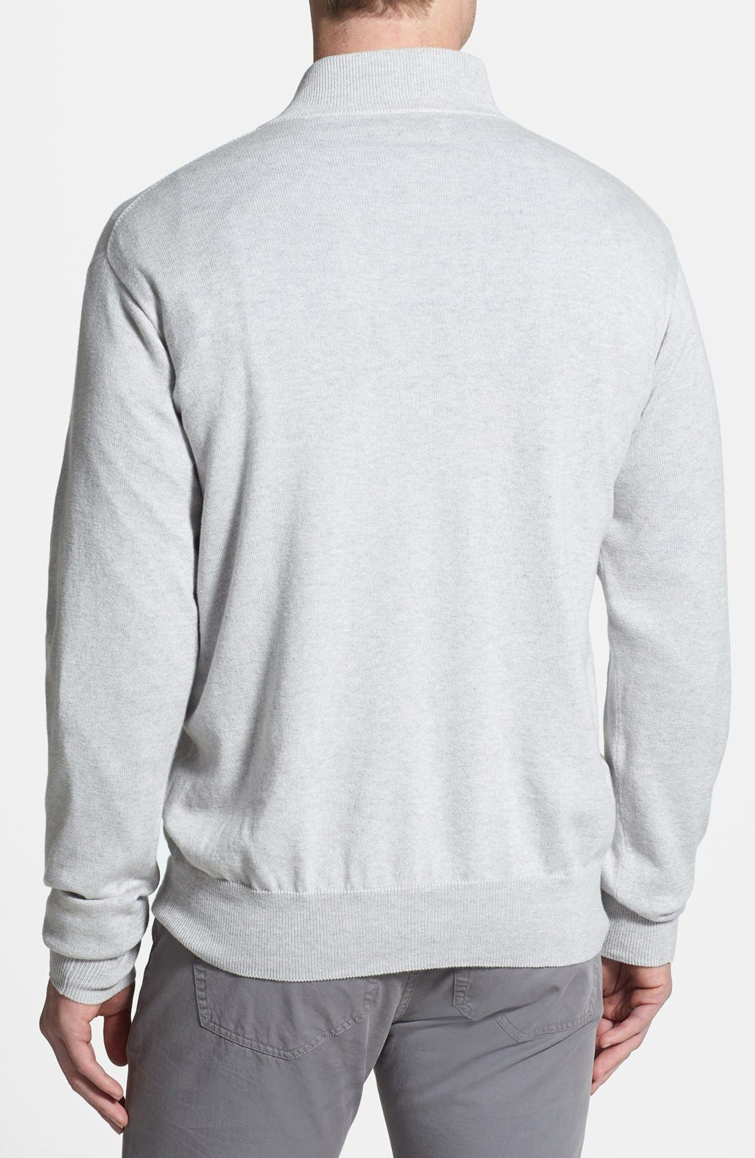 Alternate Image 2  - Peter Millar Cotton & Cashmere Quarter Zip Sweater