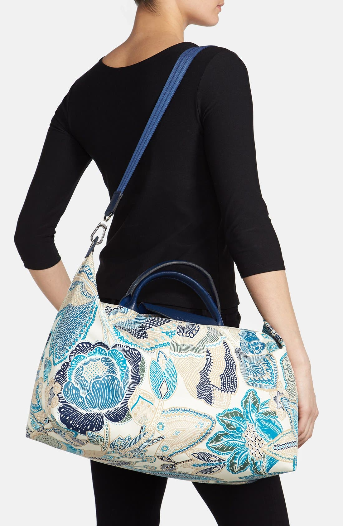 'Fleurs de Ravello' Travel Bag,                             Alternate thumbnail 2, color,                             Indigo