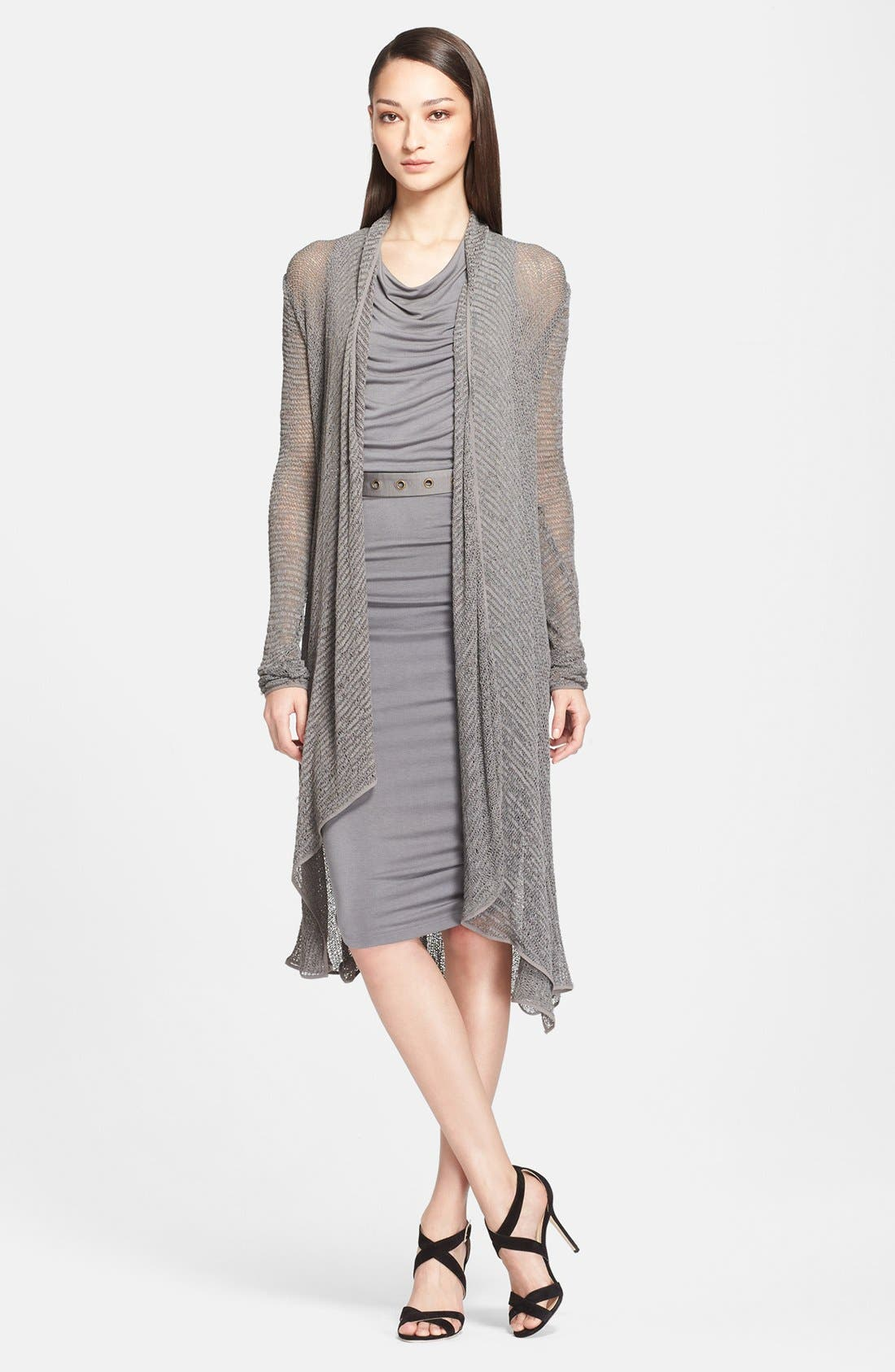 Main Image - Donna Karan Collection Long Jersey Cardigan