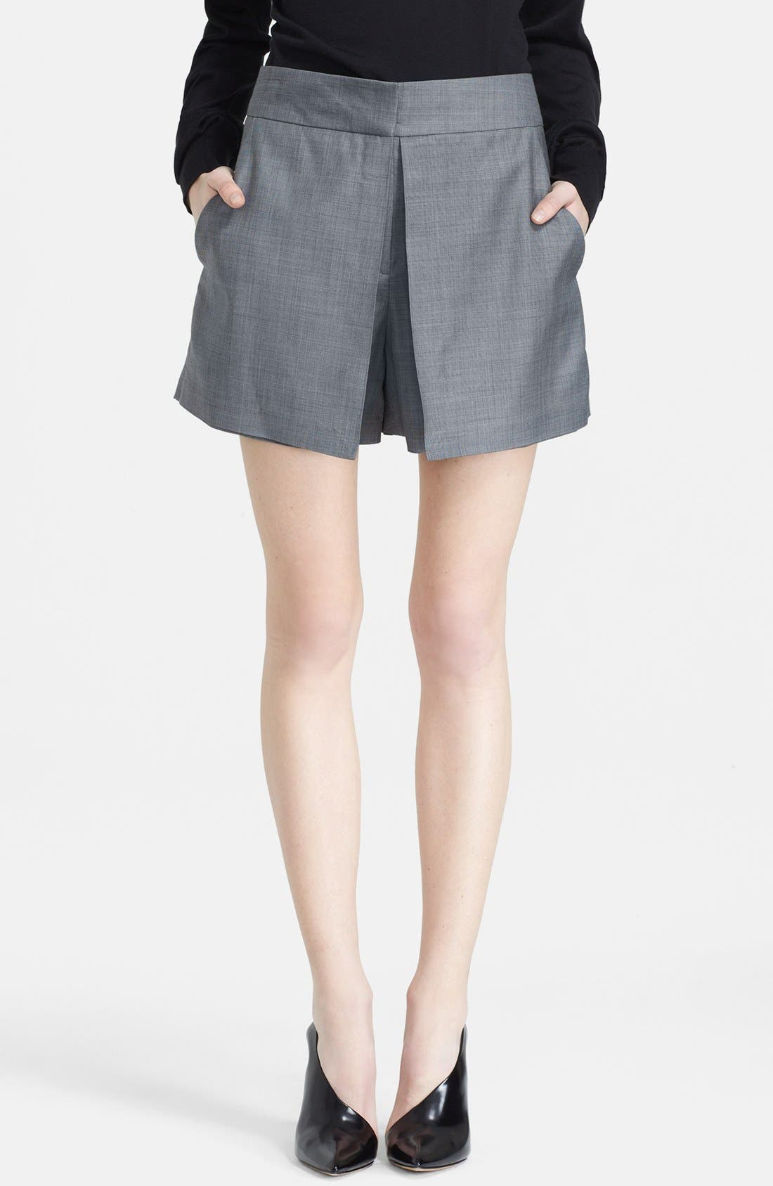 Alternate Image 1 Selected - Alexander Wang Layered Wool Shorts