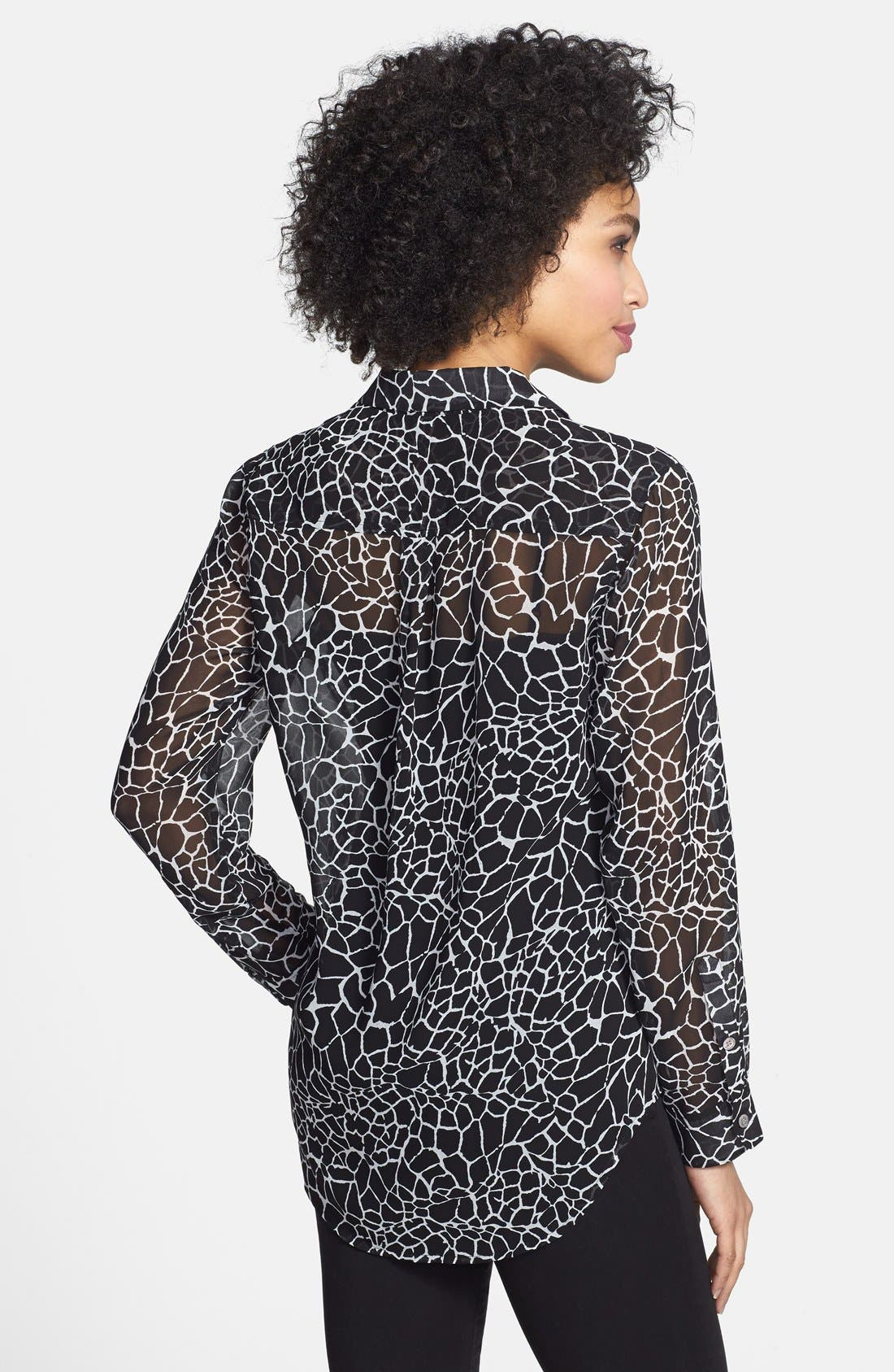 Alternate Image 2  - Two by Vince Camuto Giraffe Print Utility Shirt