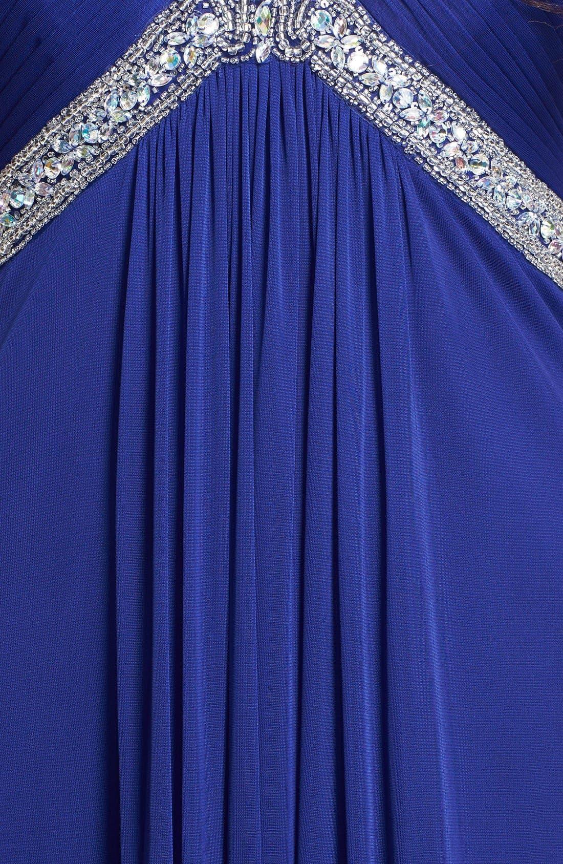 Alternate Image 3  - Xscape Embellished Chiffon Mesh Gown