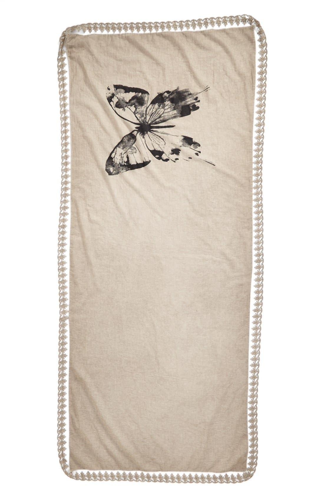 Alternate Image 2  - Nordstrom 'Vintage Butterfly' Scarf