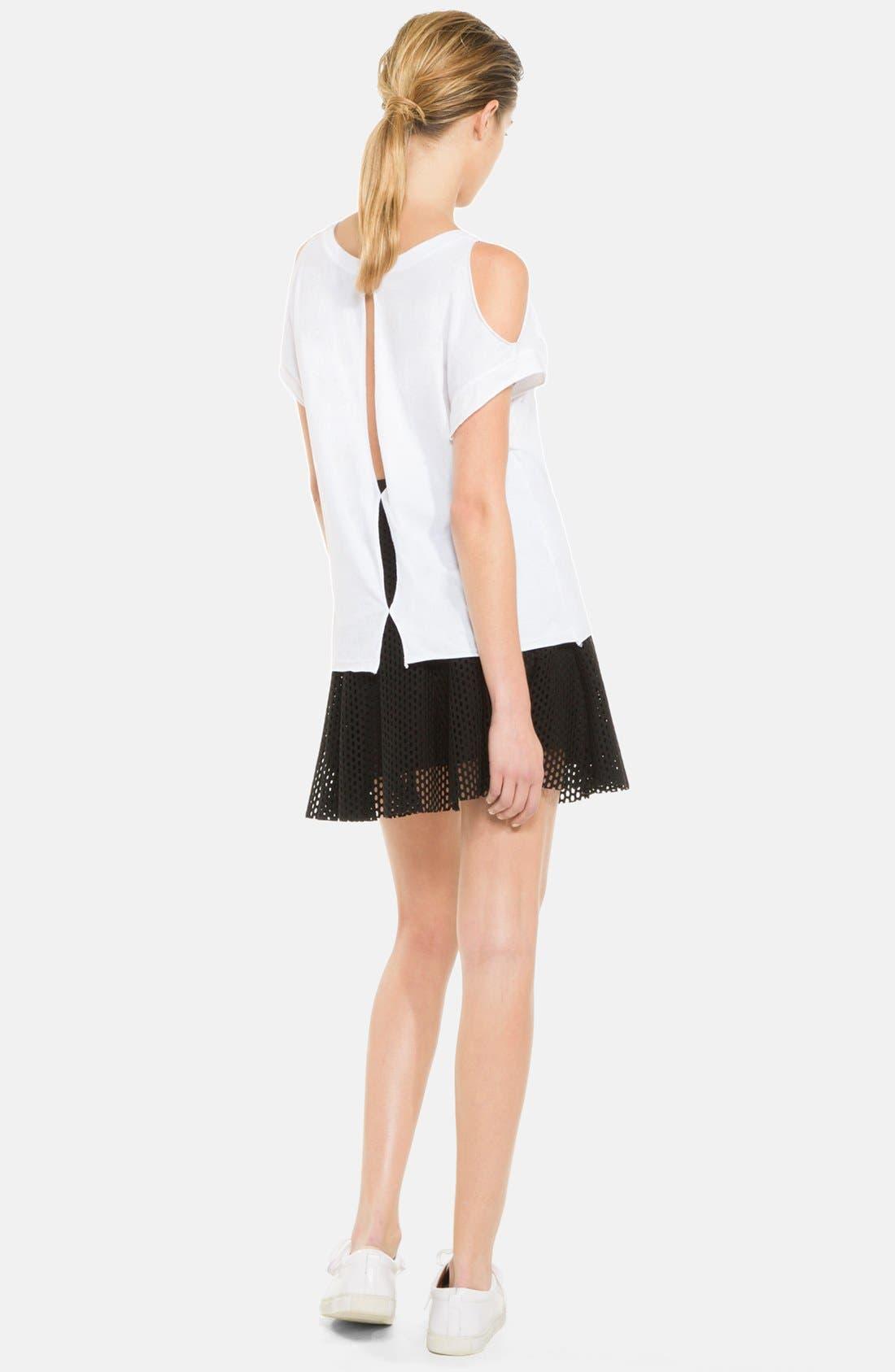 Alternate Image 2  - sandro 'Jackpot' Flare Mesh Skirt