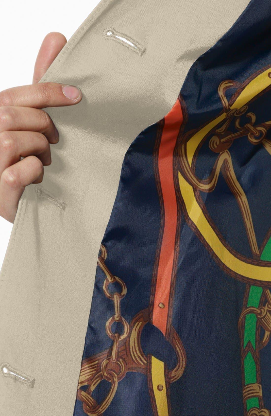 Alternate Image 5  - Lauren Ralph Lauren Bonded Cotton A-Line Jacket with Detachable Hood