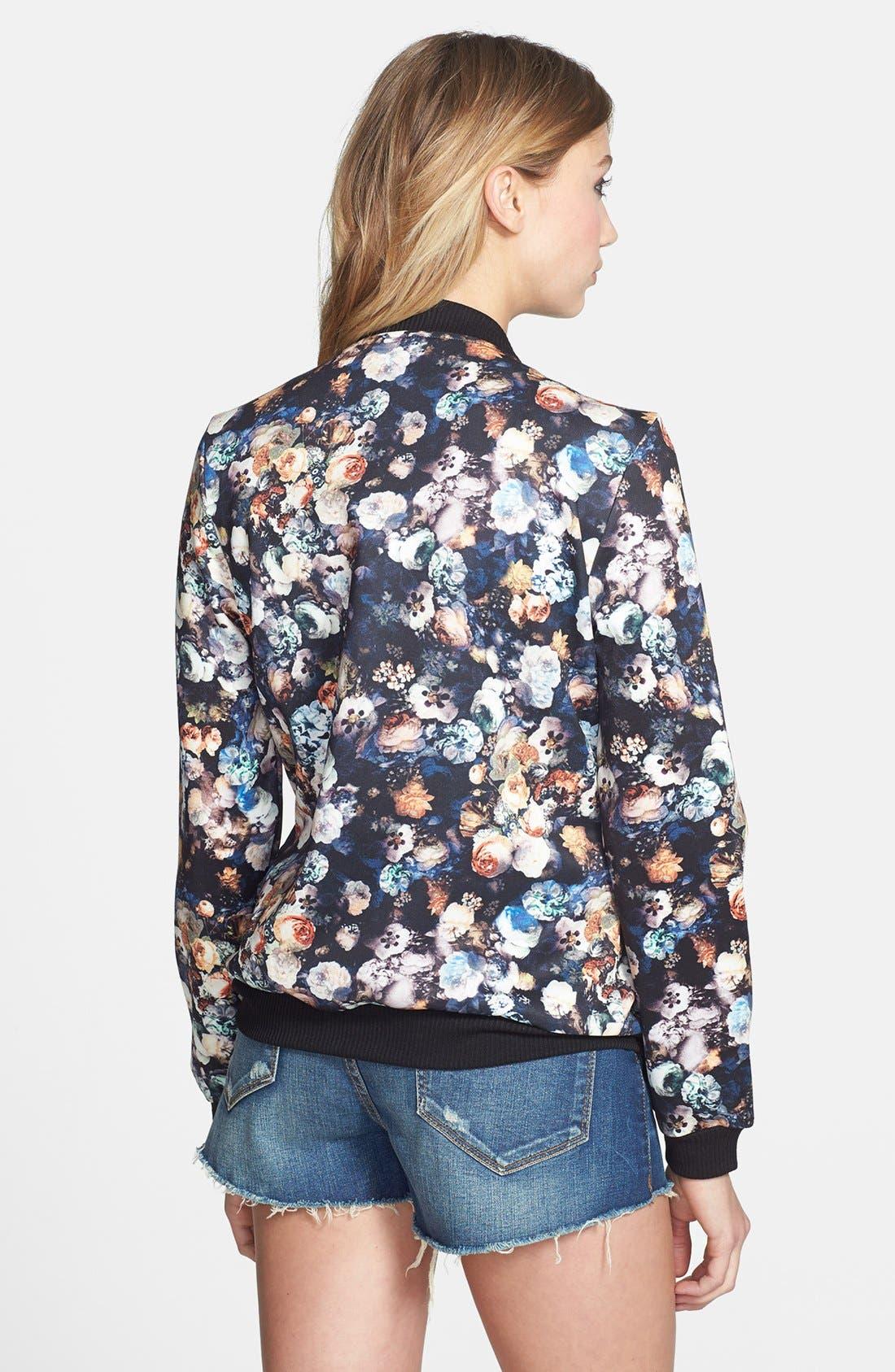 Alternate Image 2  - Lark Floral Print Bomber Jacket