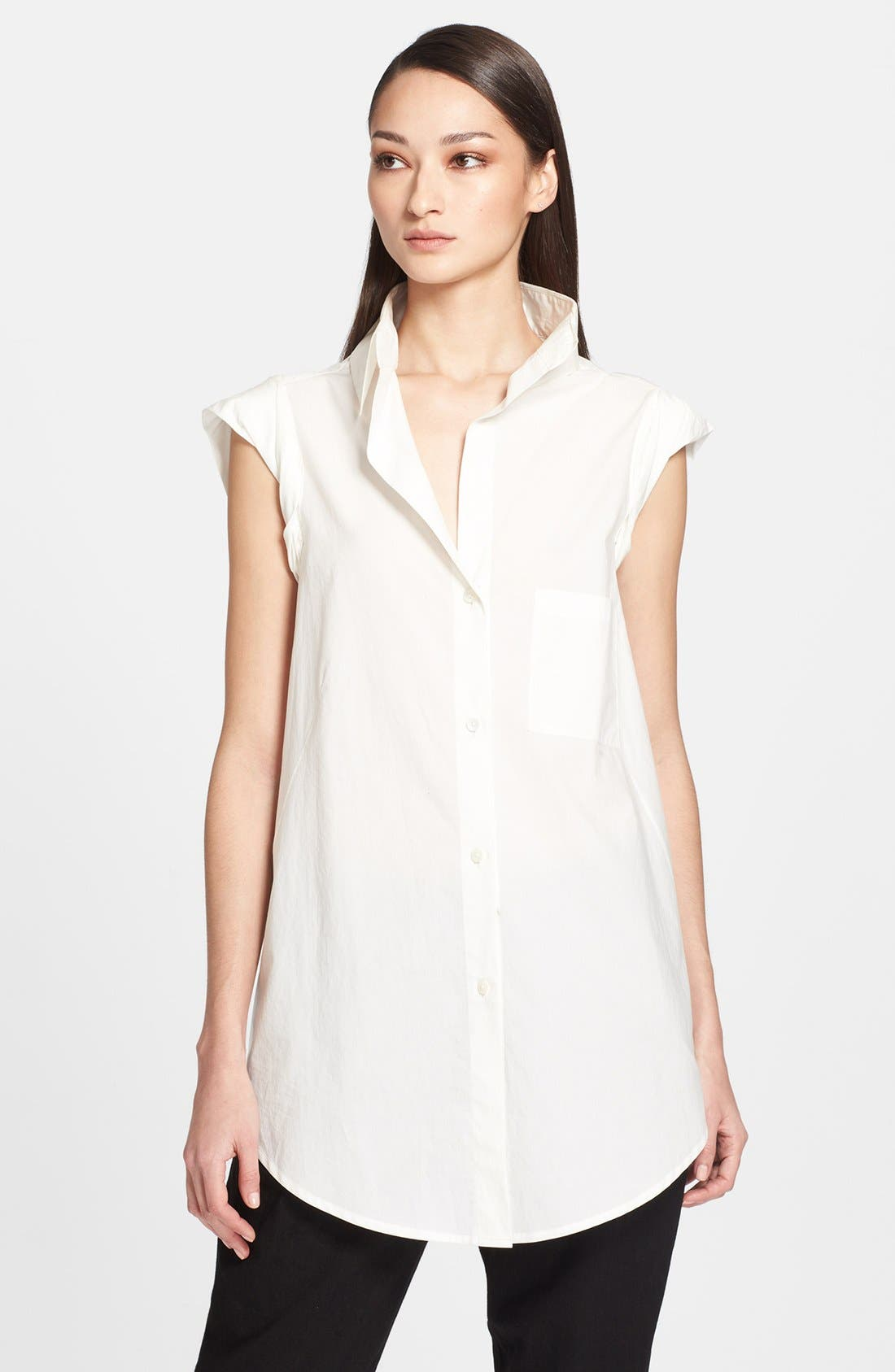 Alternate Image 1 Selected - Donna Karan Collection Cotton Blouse
