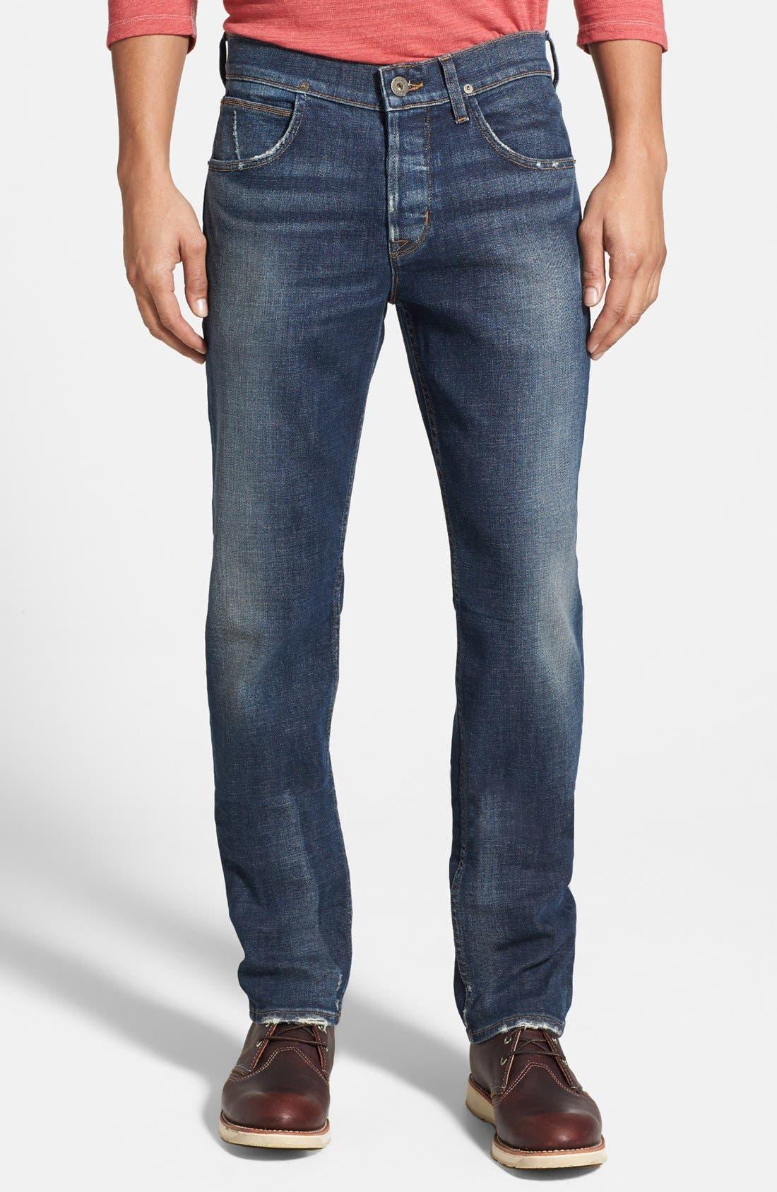 Alternate Image 1 Selected - Hudson Jeans 'Blake' Slim Straight Leg Jeans (Thieves)