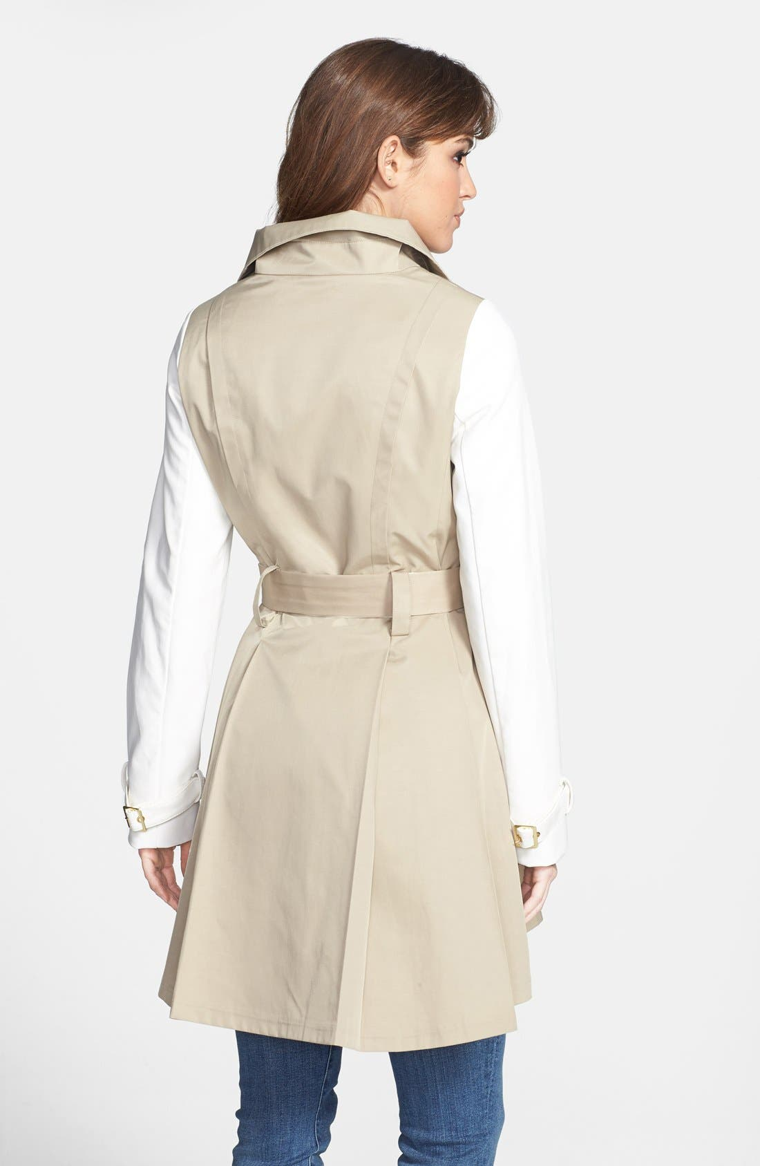 Alternate Image 2  - Steve Madden Two-Tone Asymmetrical High-Low Trench Coat