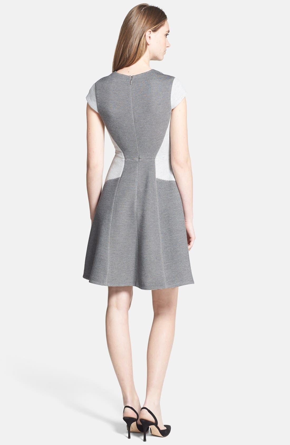 Alternate Image 2  - Rebecca Taylor Ponte Fit & Flare Dress
