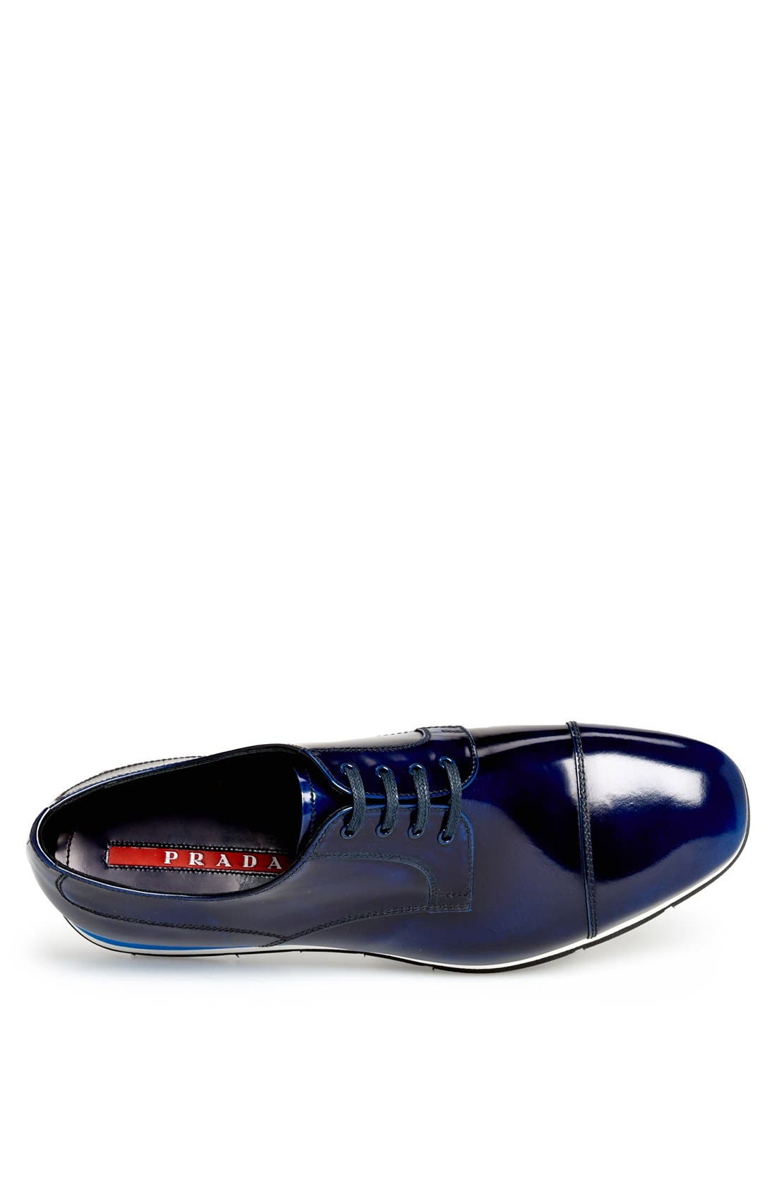 Cap Toe Derby,                             Alternate thumbnail 3, color,                             Cobalt Blue