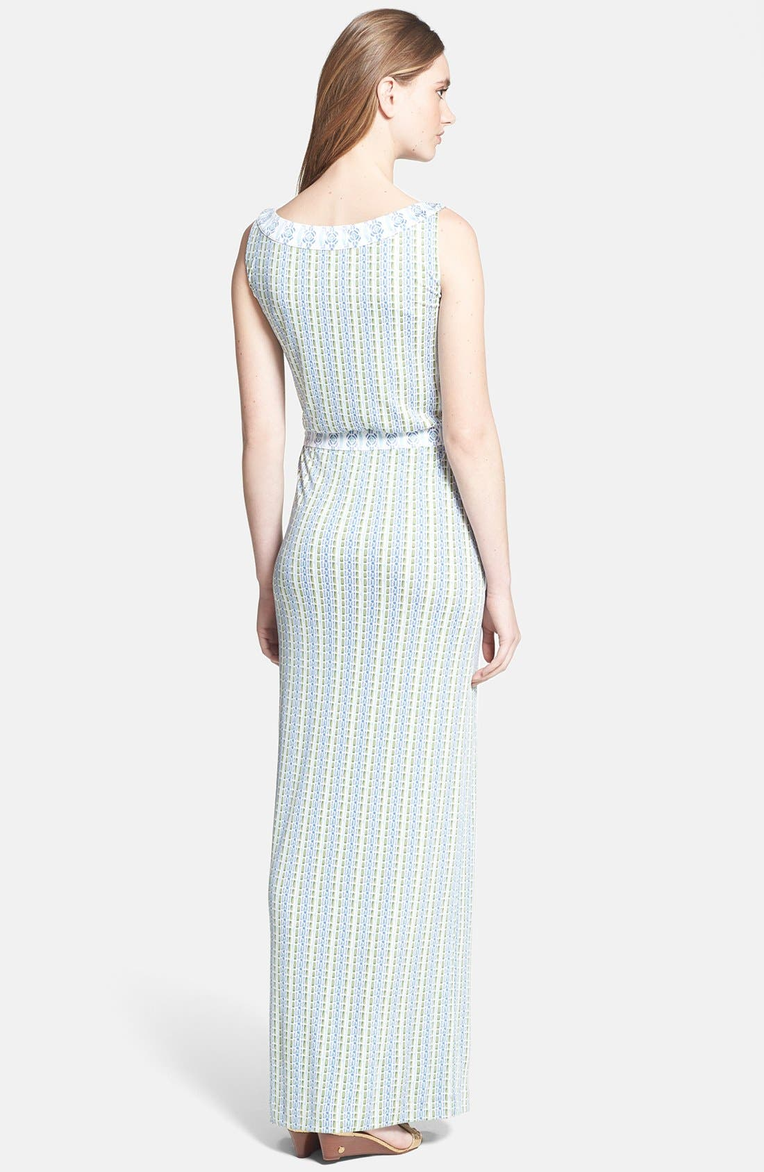 Alternate Image 2  - Tory Burch 'Micky' Silk Blouson Maxi Dress