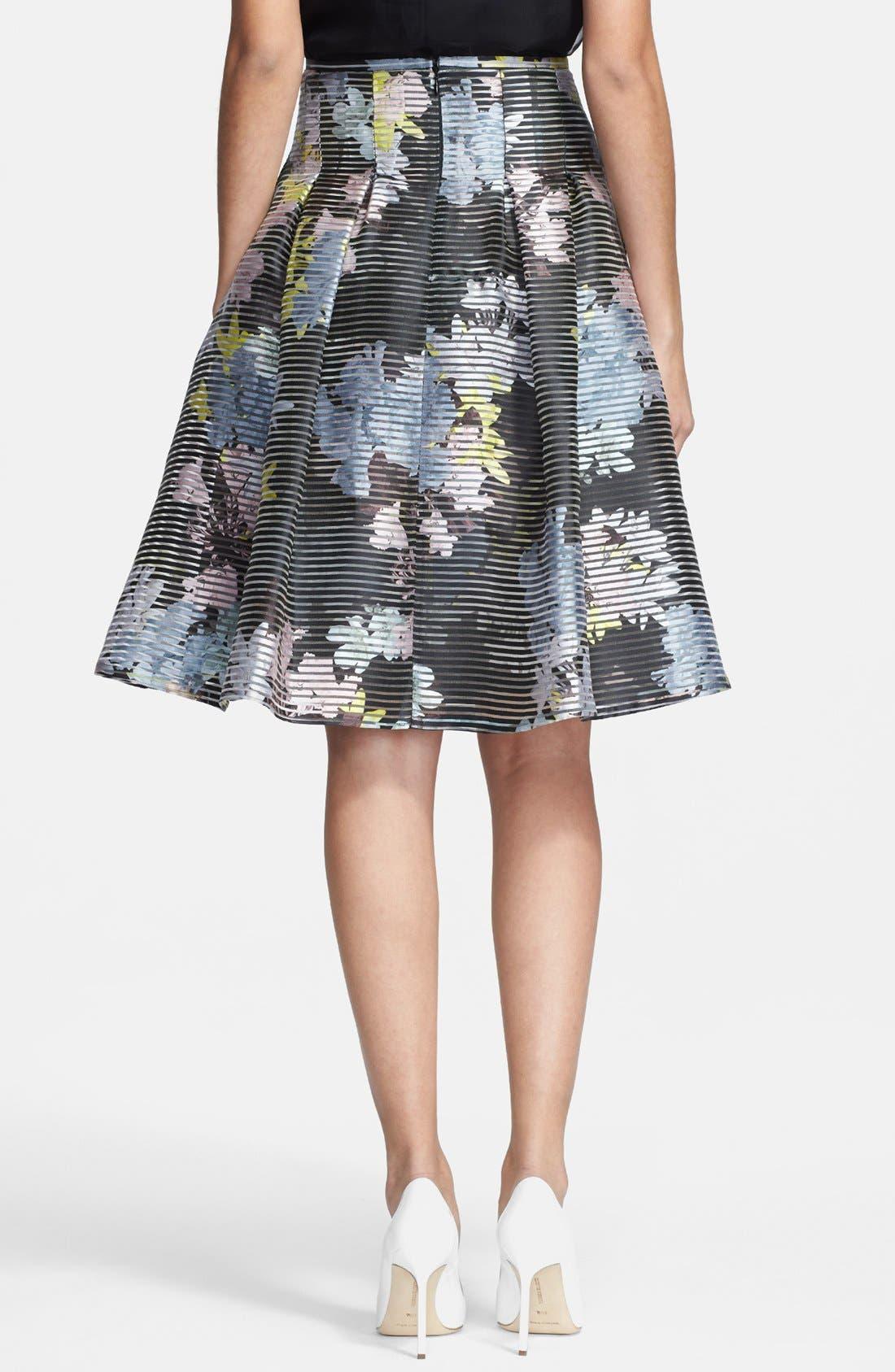 Alternate Image 2  - Erdem Print A-line Organza Skirt